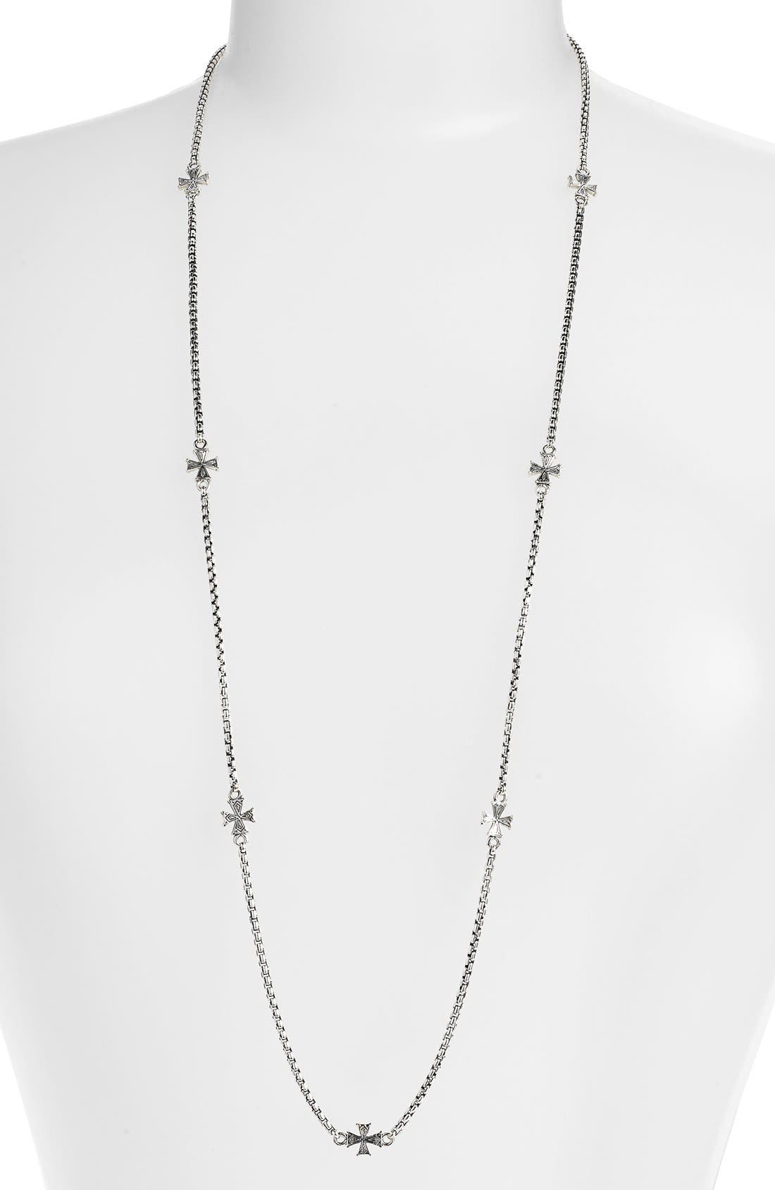 'Classics' Long Station Necklace,                         Main,                         color, Silver