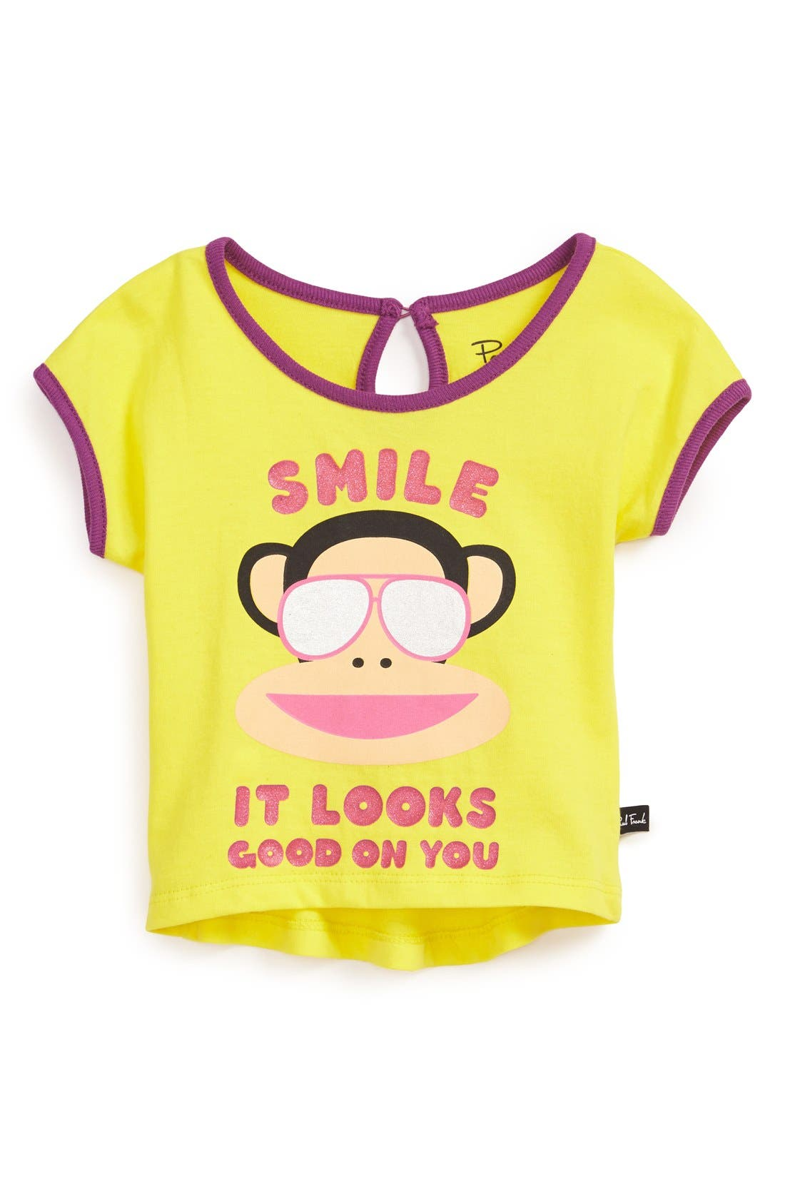 Alternate Image 1 Selected - Paul Frank 'Looks Good On You' High/Low Tee (Baby Girls)