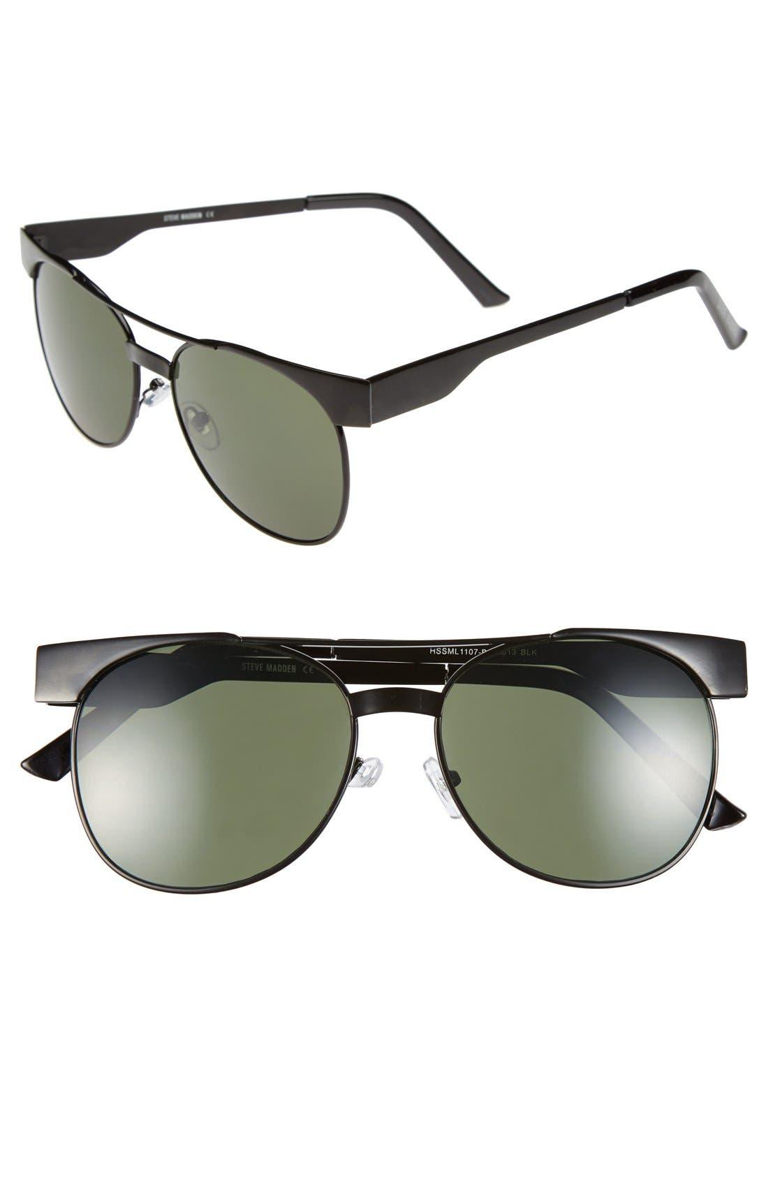 Main Image - Steve Madden 54mm Aviator Sunglasses