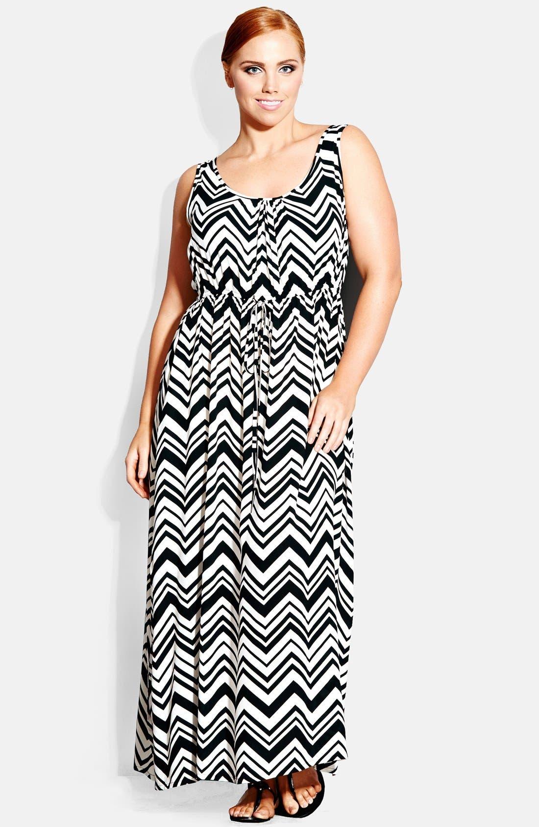 Alternate Image 1 Selected - City Chic 'Jamaica' Maxi Dress (Plus Size)