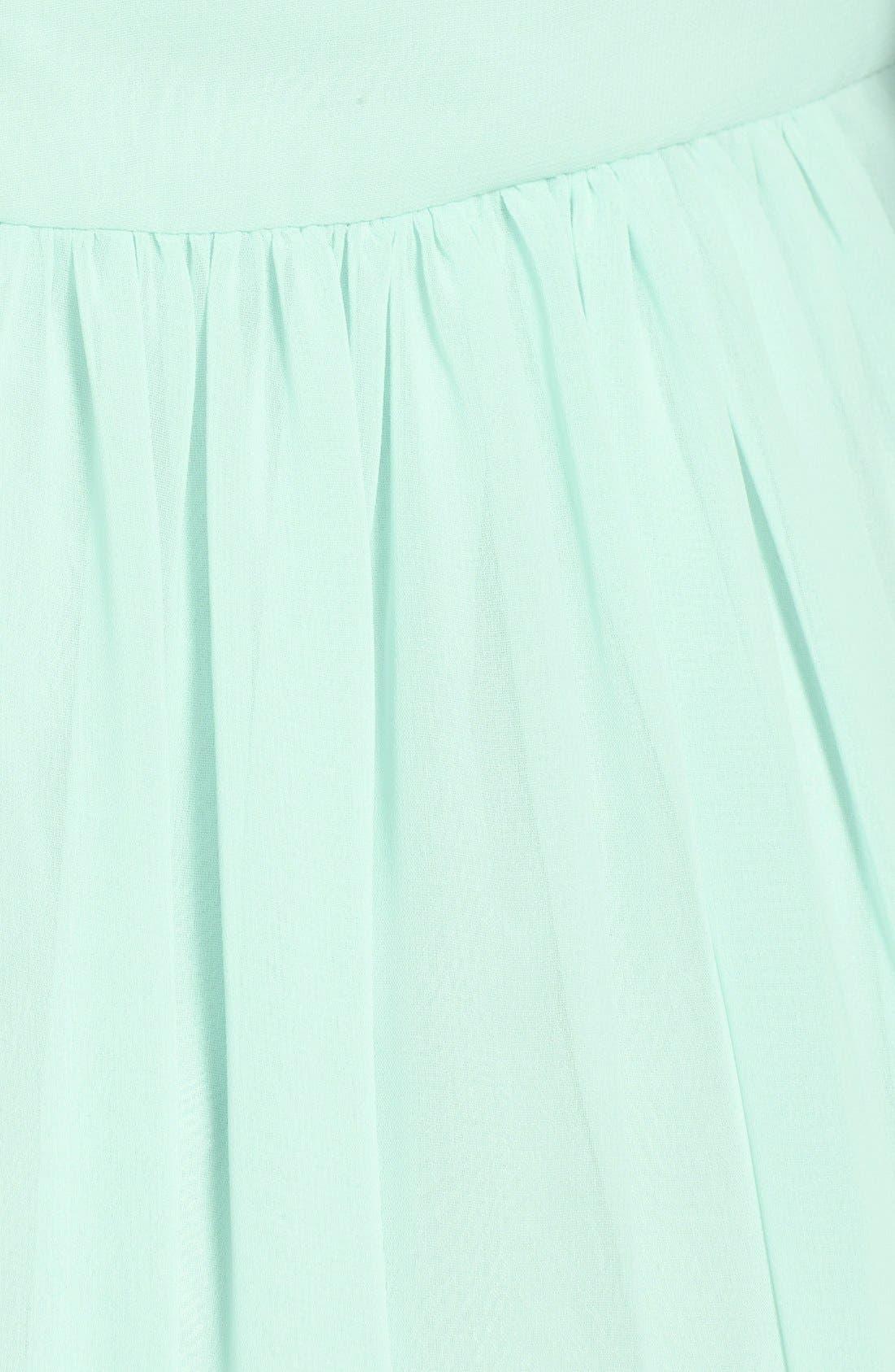 Alternate Image 3  - Monique Lhuillier Bridesmaids Crisscross Chiffon Gown (Nordstrom Exclusive)
