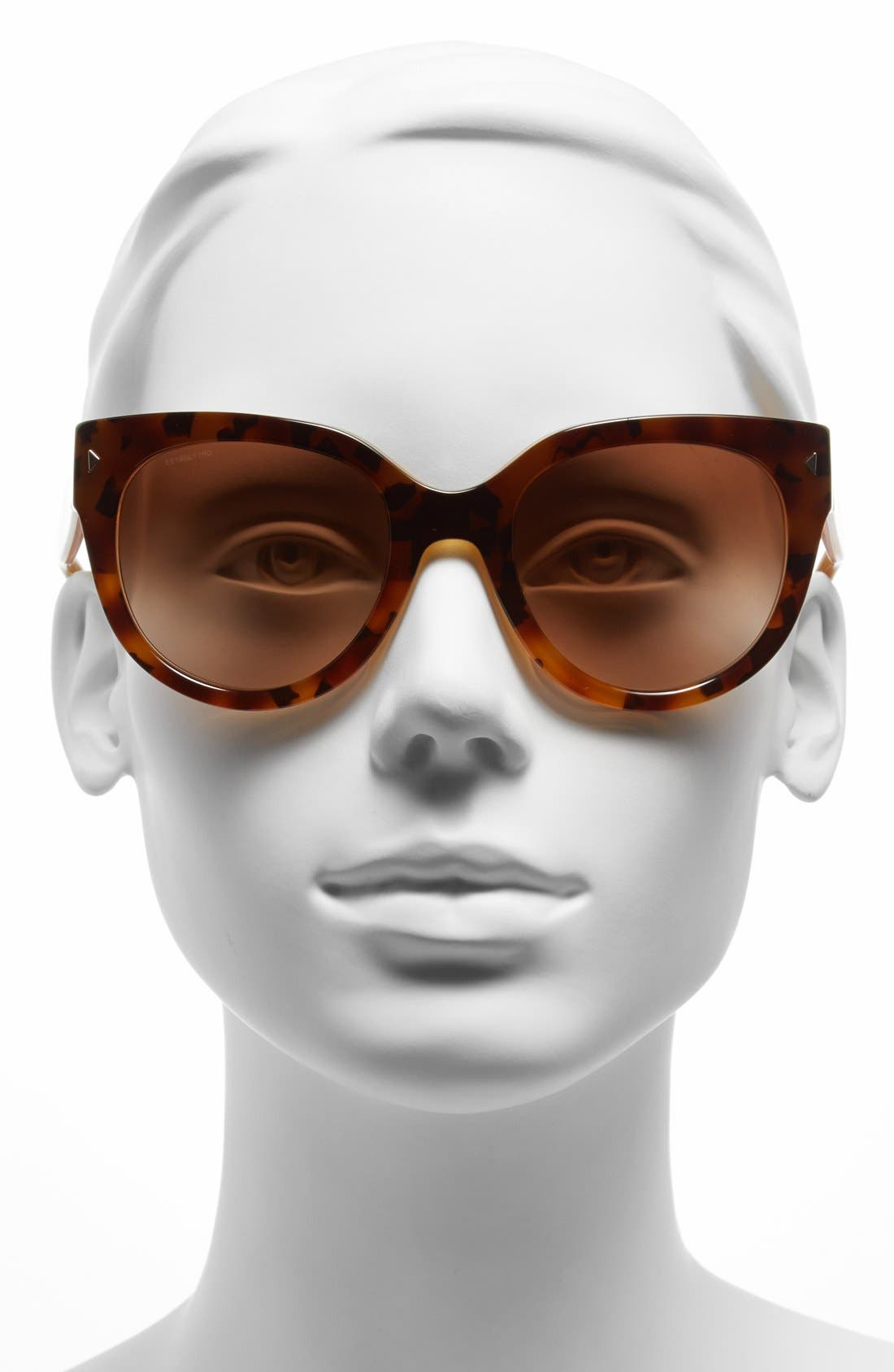 54mm Cat Eye Sunglasses,                             Alternate thumbnail 2, color,                             Yellow Tortoise