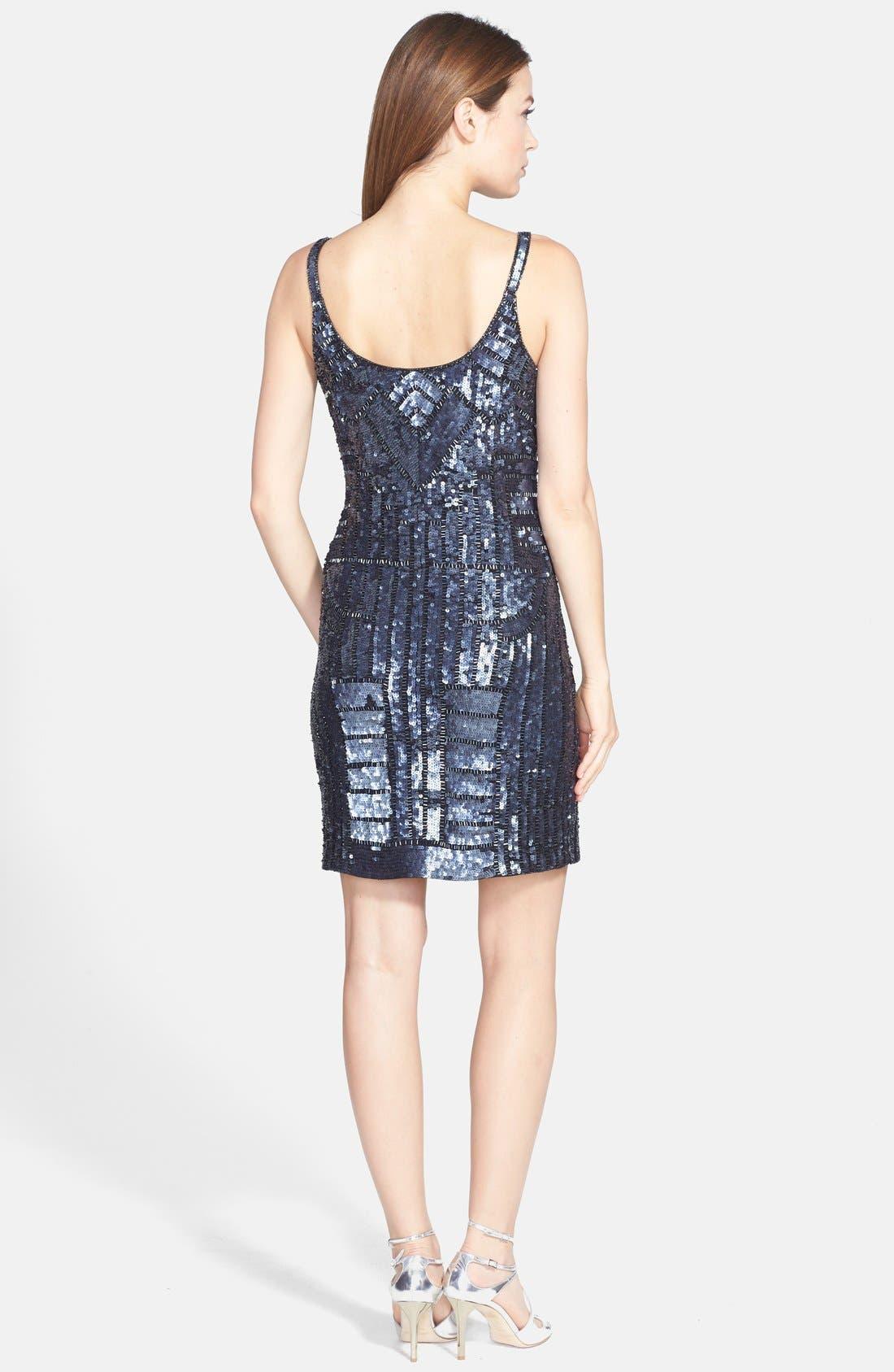 Alternate Image 2  - Adrianna Papell Beaded Tank Dress