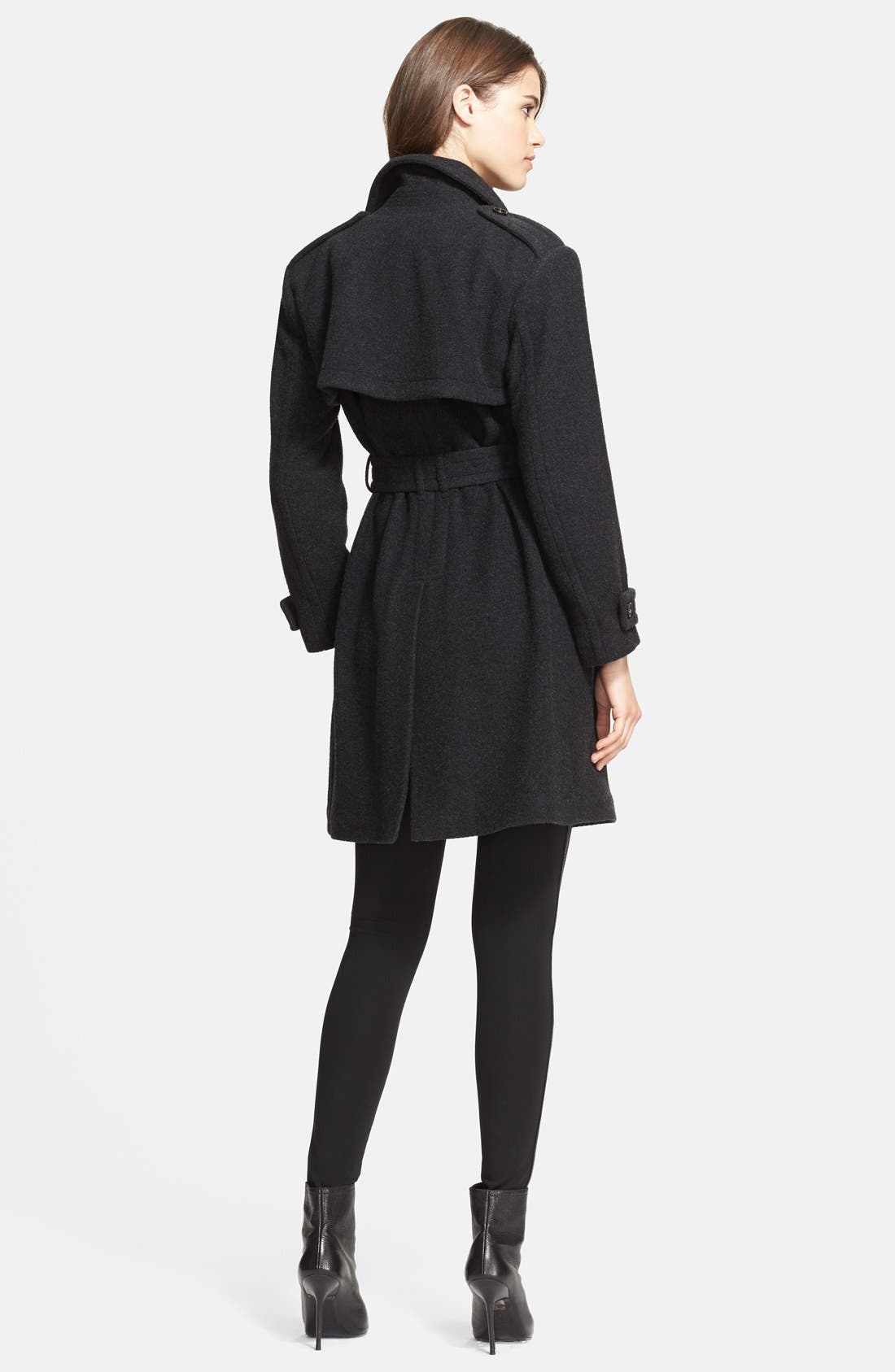 Alternate Image 2  - Burberry London Cashmere Wrap Trench Coat