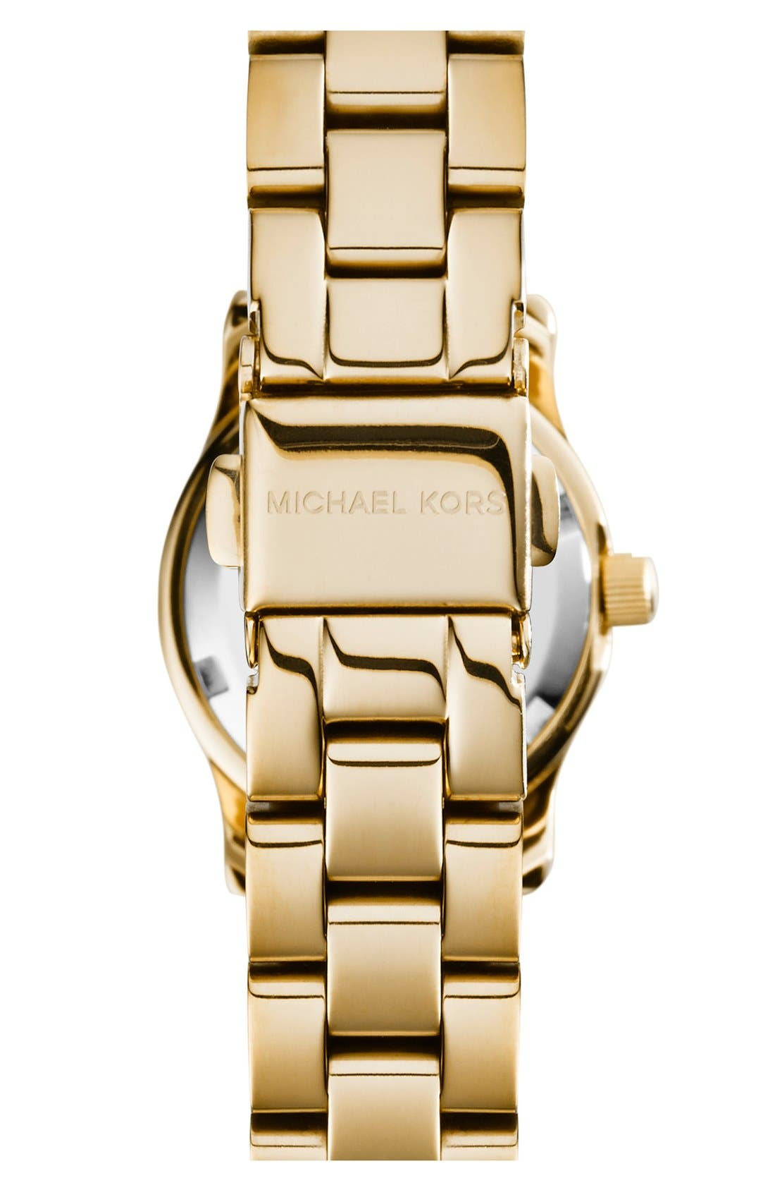 Alternate Image 2  - Michael Kors 'Petite Runway' Logo Dial Bracelet Watch, 26mm