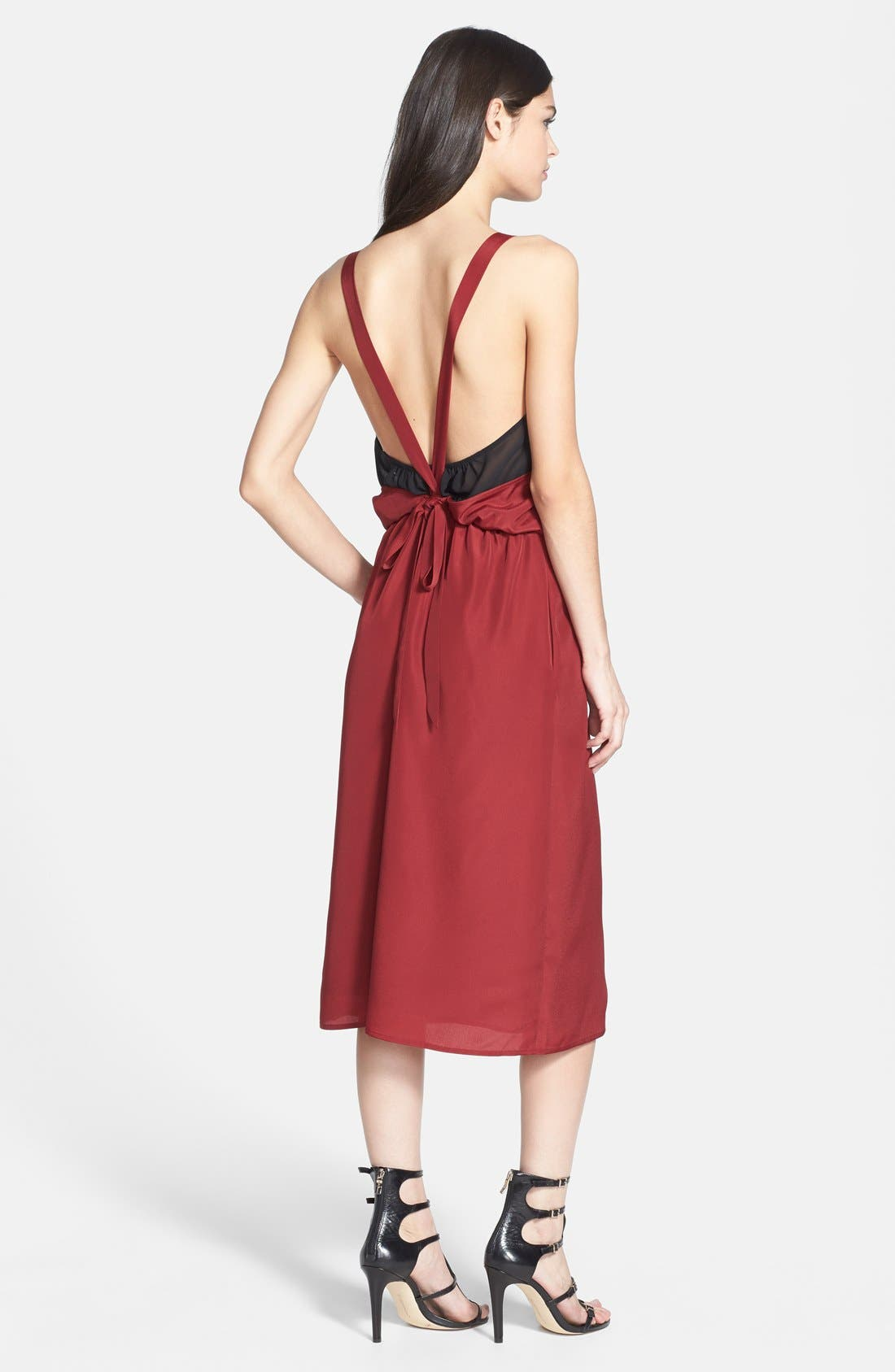 Alternate Image 2  - 1.STATE Halter Midi Dress