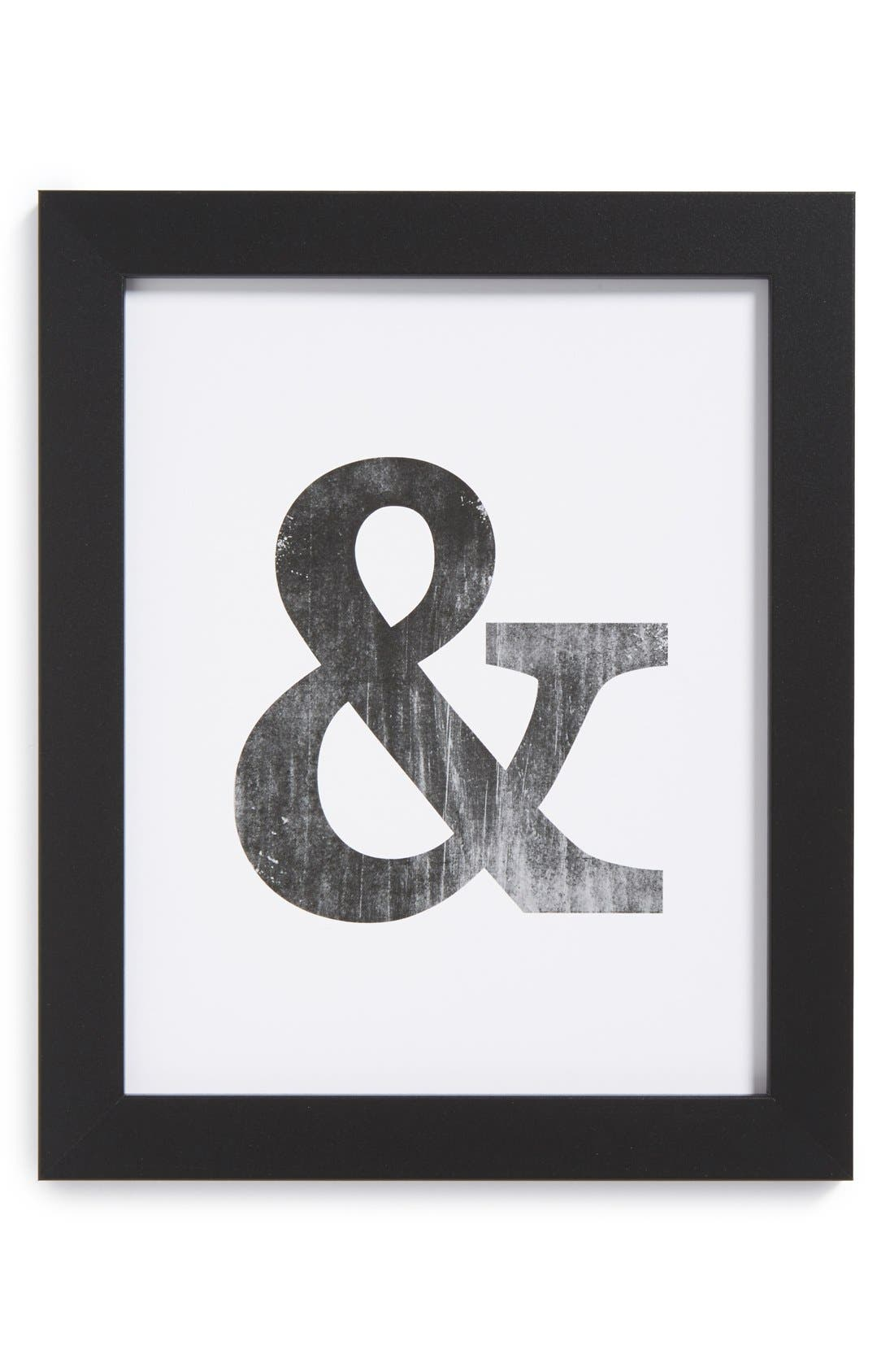 Alternate Image 1 Selected - The Oyster's Pearl 'Ampersand' Framed Print