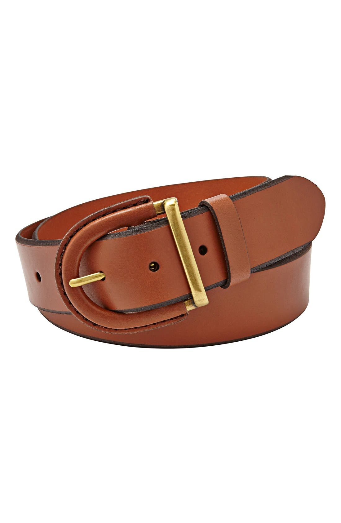 fossil leather covered buckle belt nordstrom