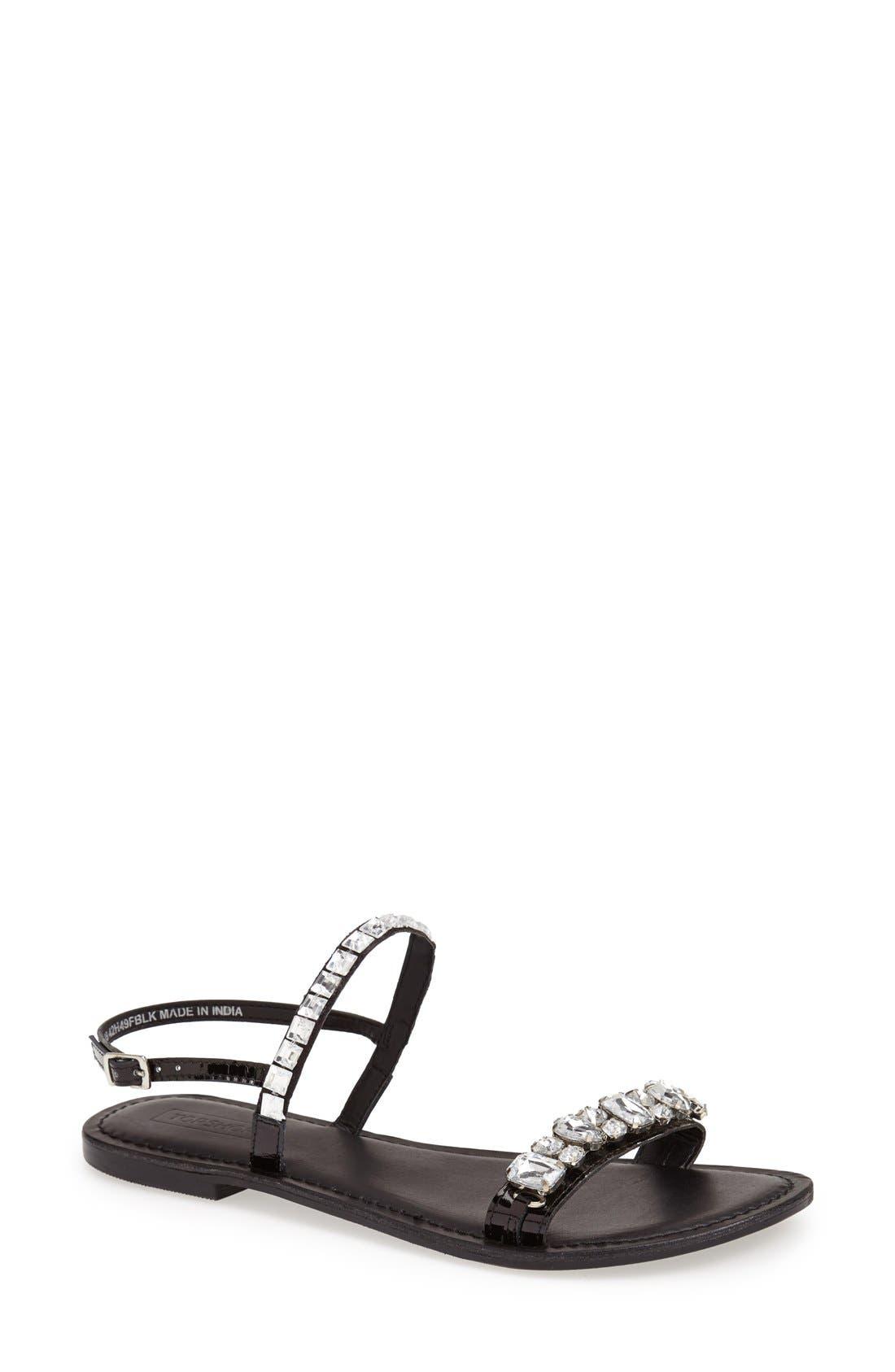 Alternate Image 1 Selected - Topshop 'Harn' Embellished Sandal (Women)