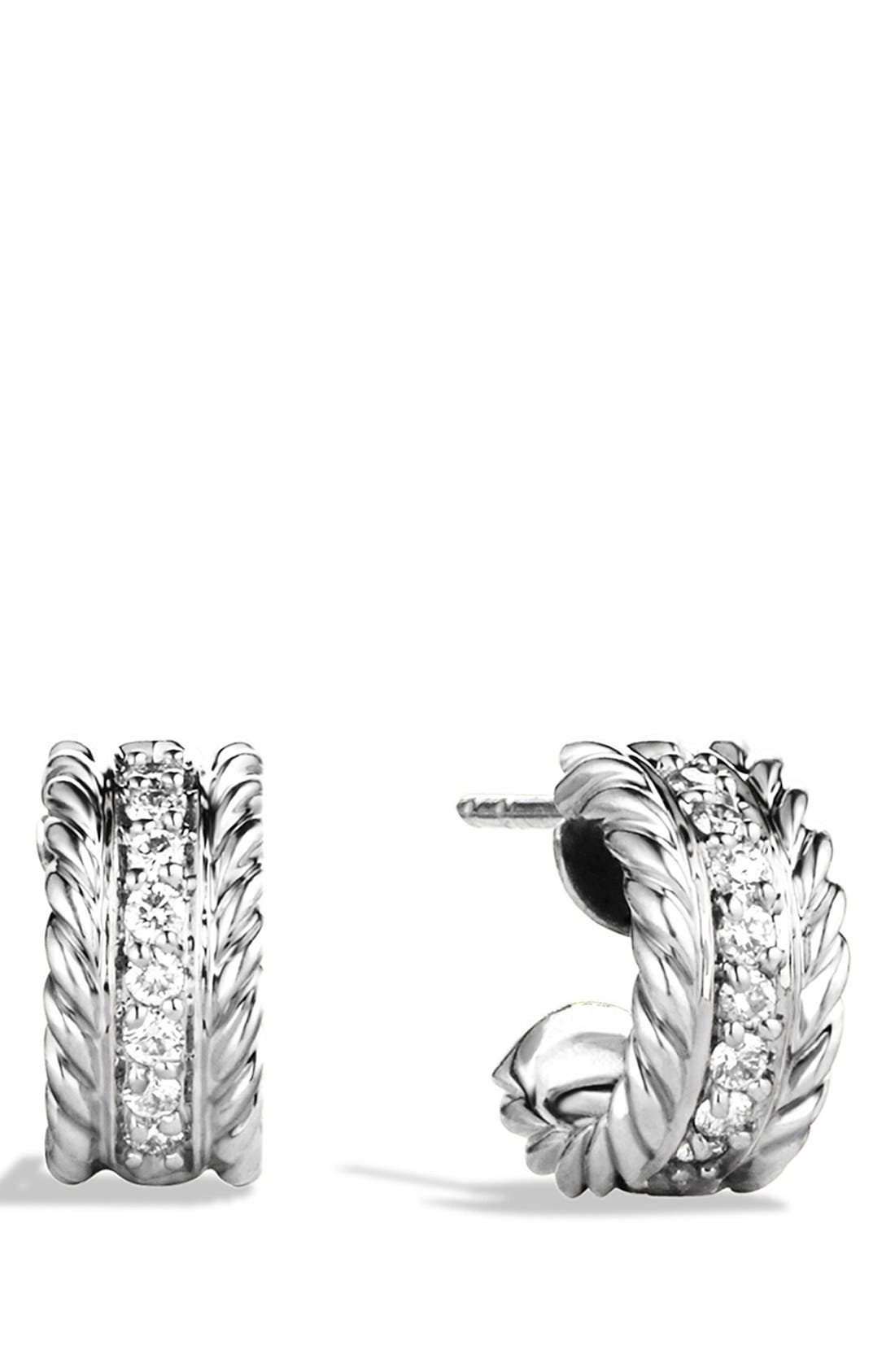 david yurman u0027cable extrasmall earrings with diamonds