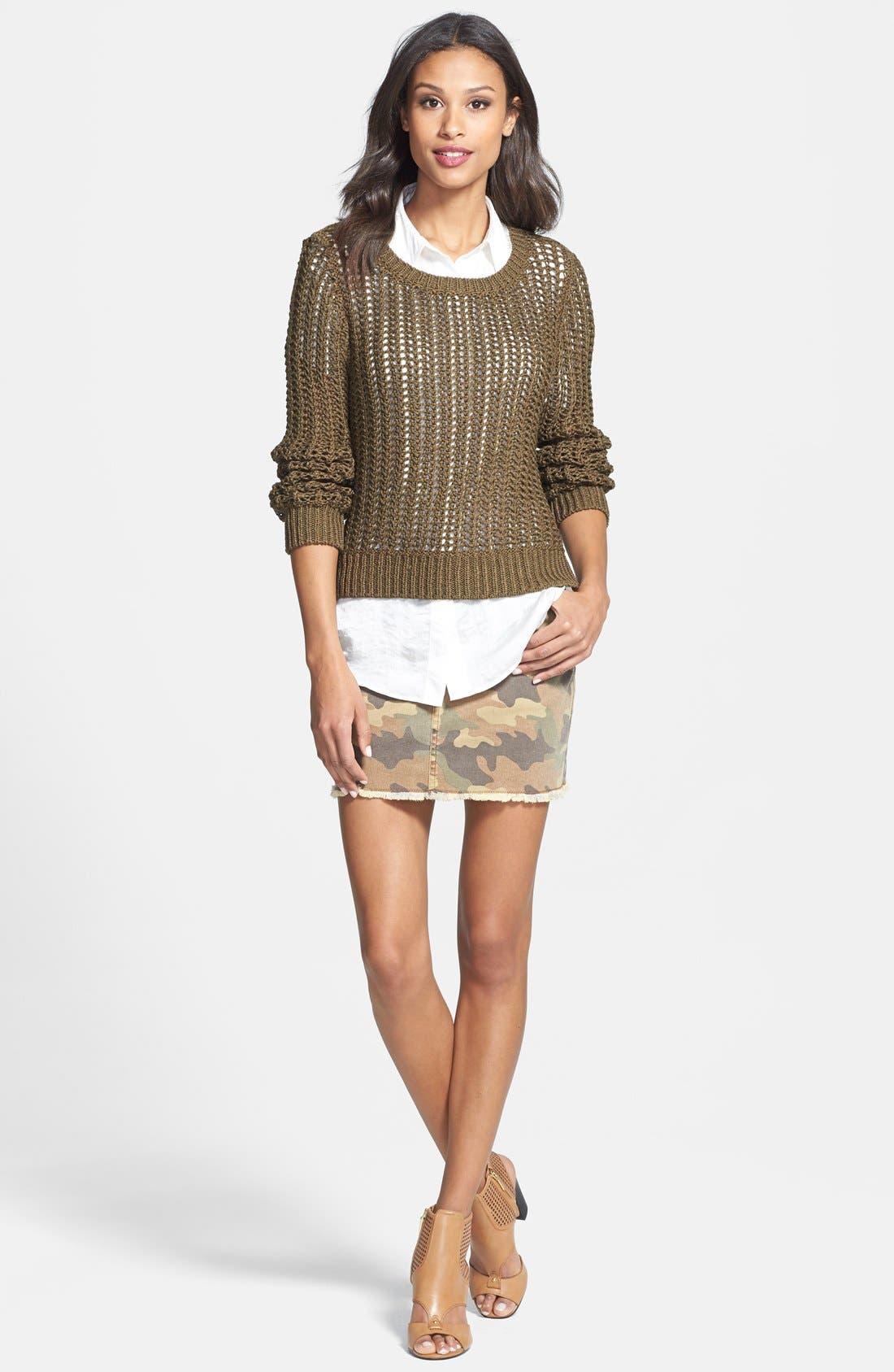 Alternate Image 4  - MICHAEL Michael Kors Camo & Denim Miniskirt