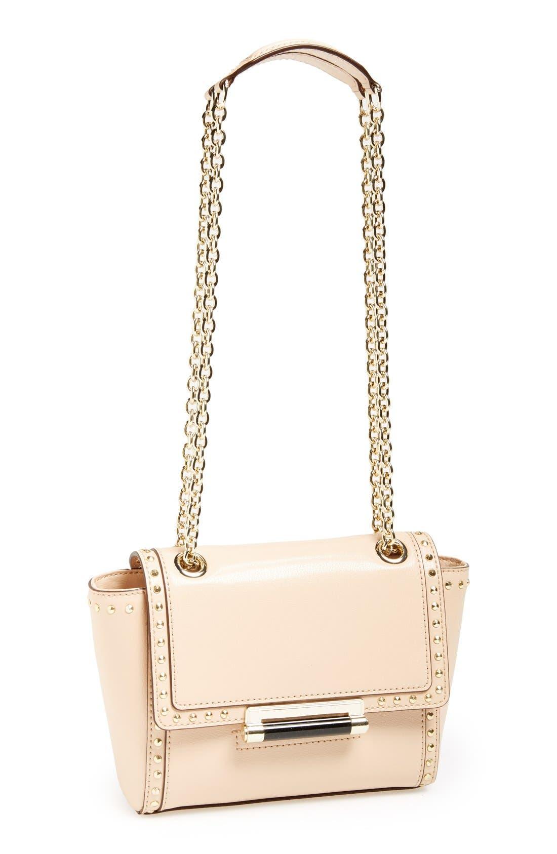 Alternate Image 1 Selected - Diane von Furstenberg 'Mini 440' Stud Leather Crossbody Bag