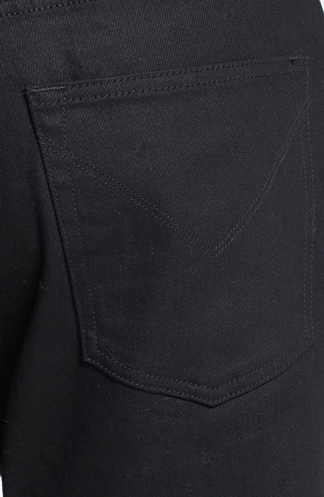 Alternate Image 4  - John Varvatos Star USA 'Bowery' Slim Straight Leg Jeans (Jet Black)