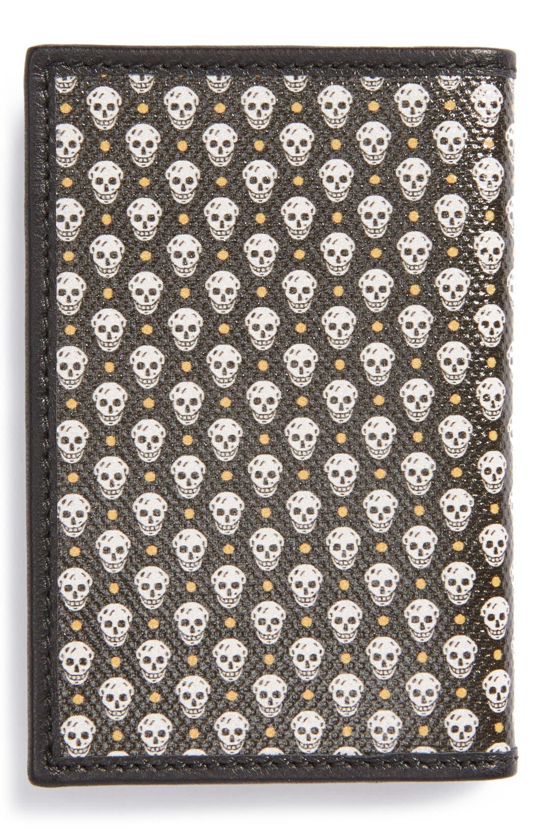Alternate Image 2  - Alexander McQueen Skull Print Leather Card Holder