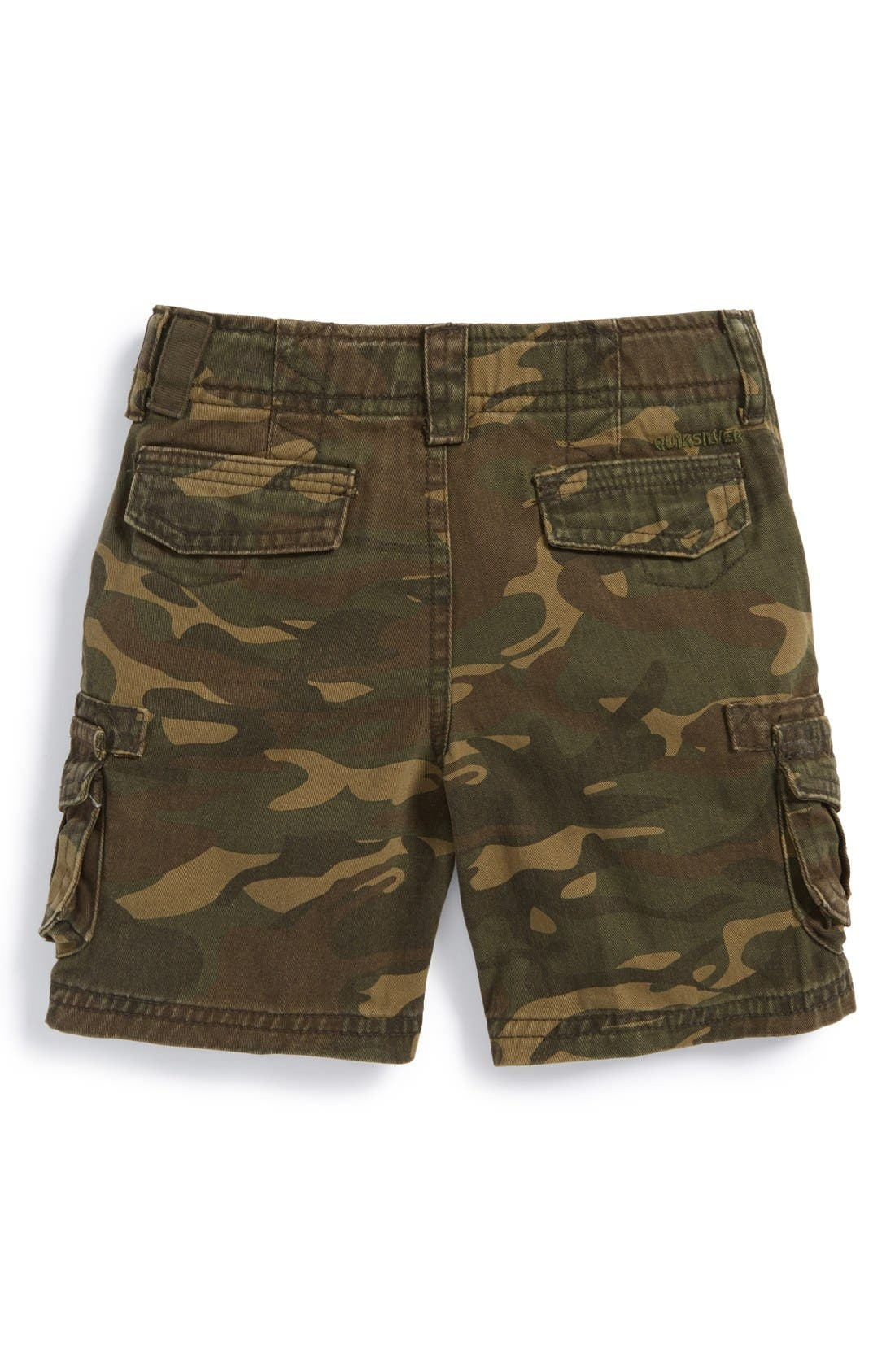 Alternate Image 2  - Quiksilver 'Deluxe' Cotton Twill Cargo Shorts (Baby Boys)