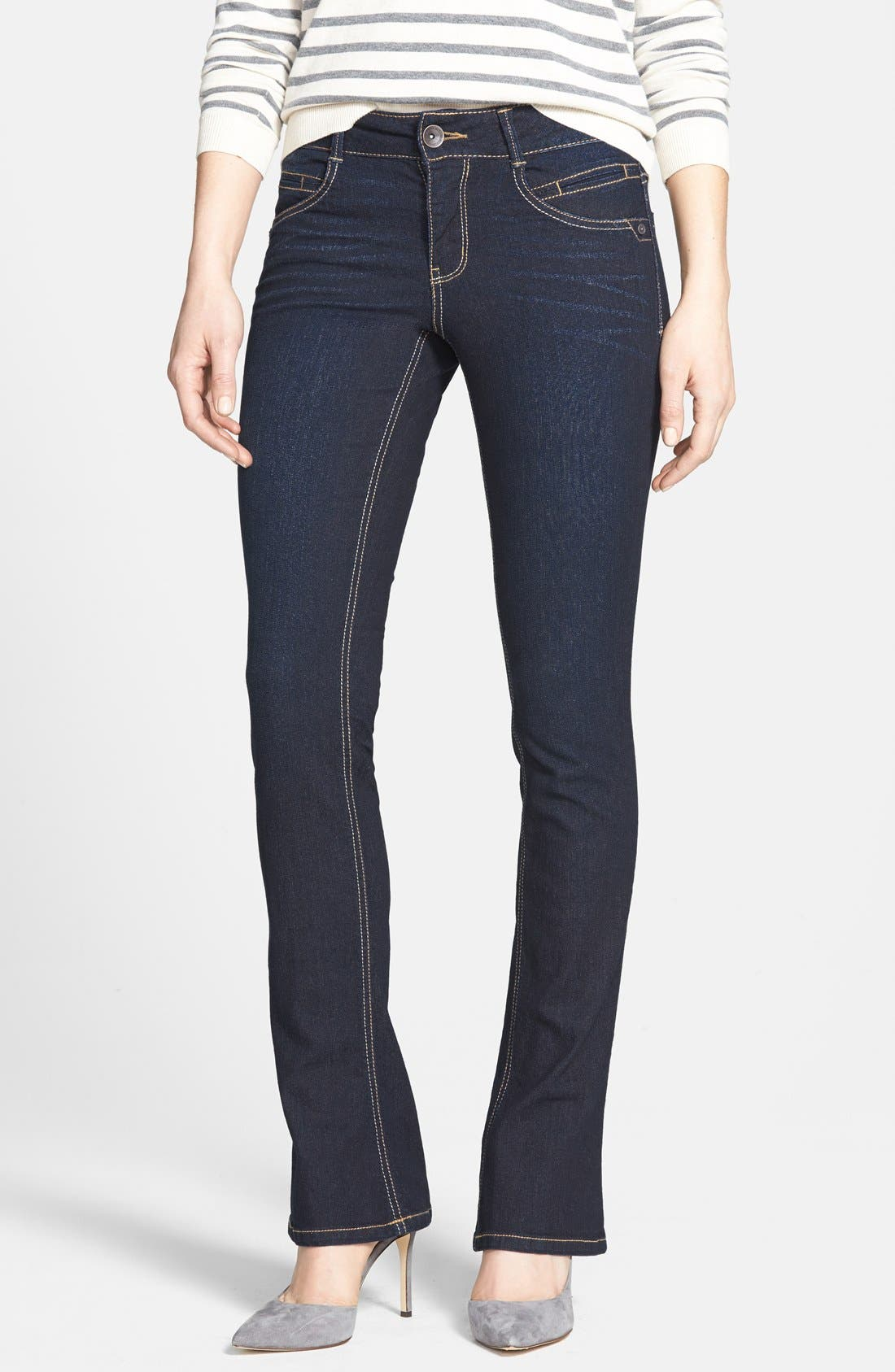 Main Image - Wit & Wisdom 'Itty Bitty' Bootcut Jeans (Blue) (Nordstrom Exclusive)