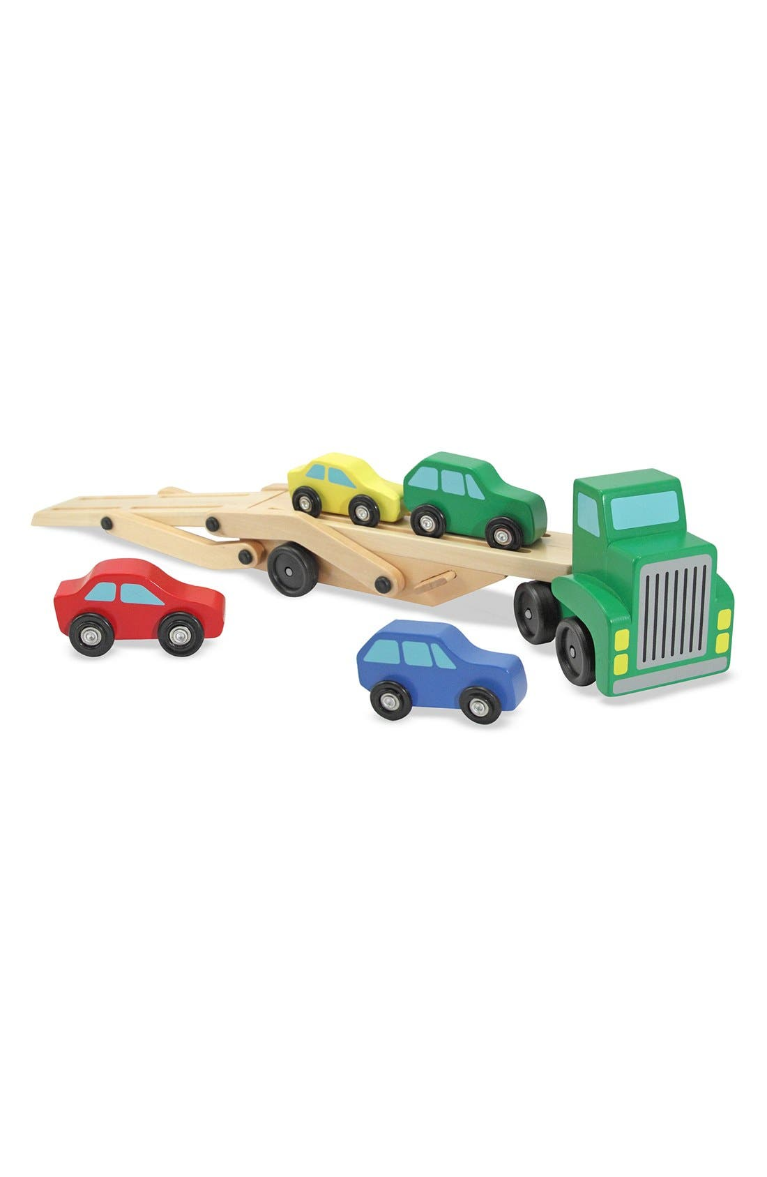 Personalized Wooden Car Carrier,                             Alternate thumbnail 4, color,                             Green