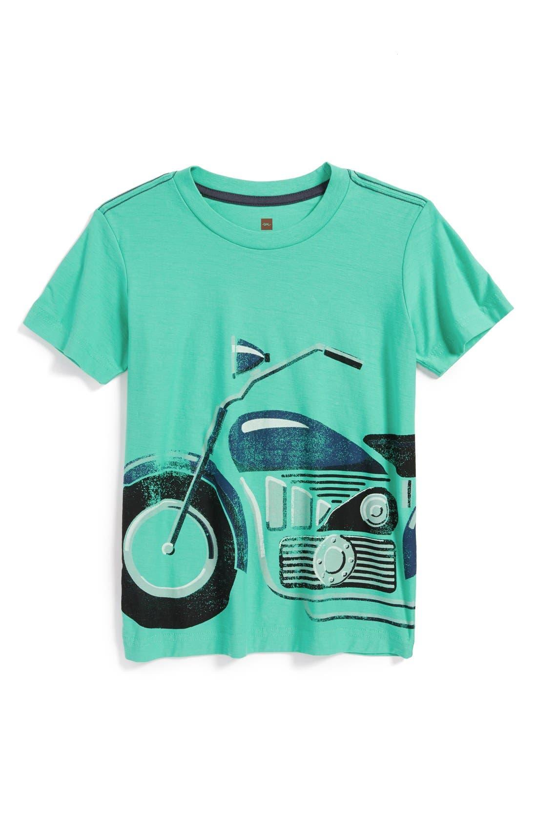 Main Image - Tea Collection 'Motorrad' Graphic T-Shirt (Toddler Boys & Little Boys)