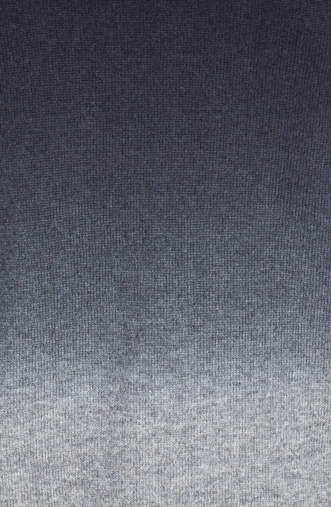 Dip Dye Cardigan,                             Alternate thumbnail 3, color,                             Black Combo