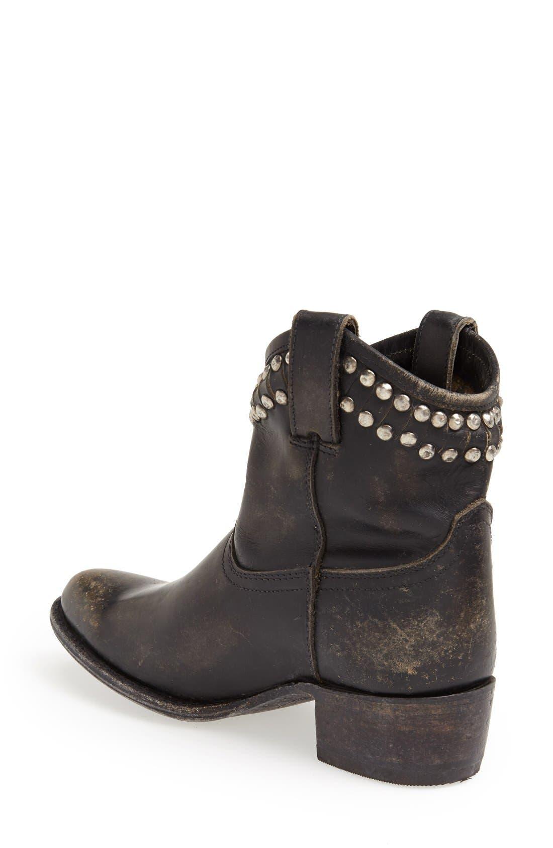 Alternate Image 2  - Frye 'Diana' Cut & Studded Leather Short Boot (Women)
