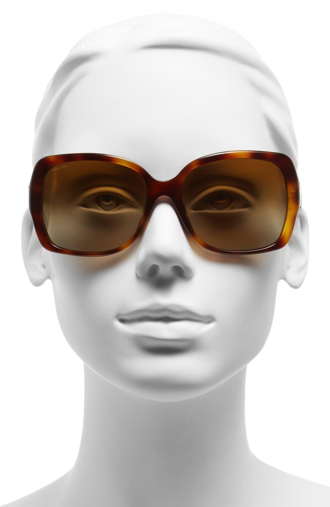Alternate Image 2  - Burberry 58mm Polarized Sunglasses