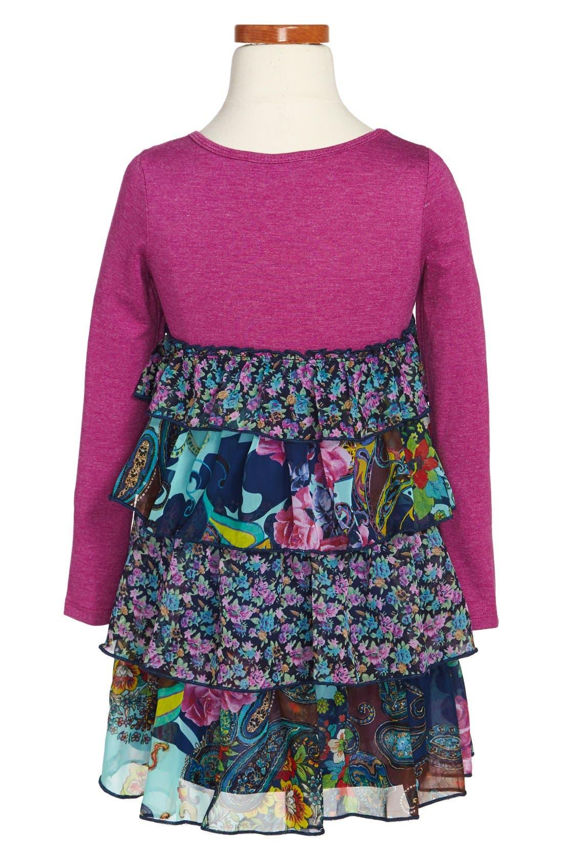 Alternate Image 2  - Truly Me Tiered Ruffle Dress (Toddler Girls, Little Girls & Big Girls)