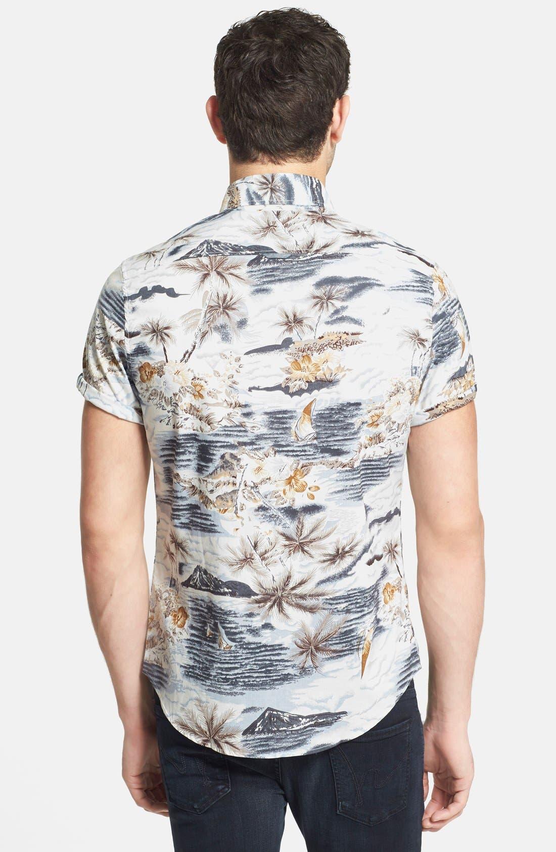 Alternate Image 2  - 7 Diamonds 'Legend' Trim Fit Short Sleeve Print Woven Shirt