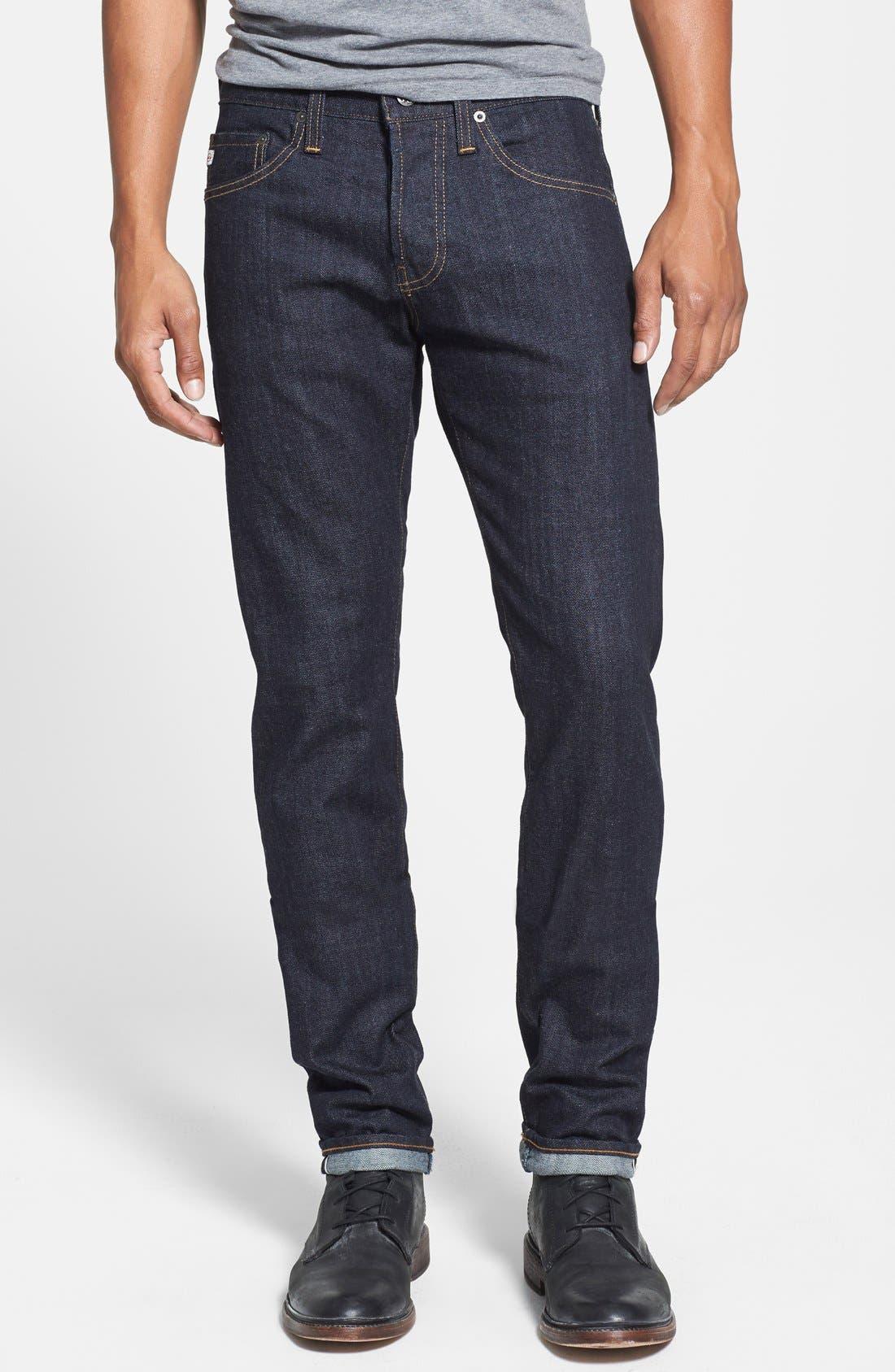 Main Image - AG 'Dylan' Skinny Fit Selvedge Jeans (Alpha)