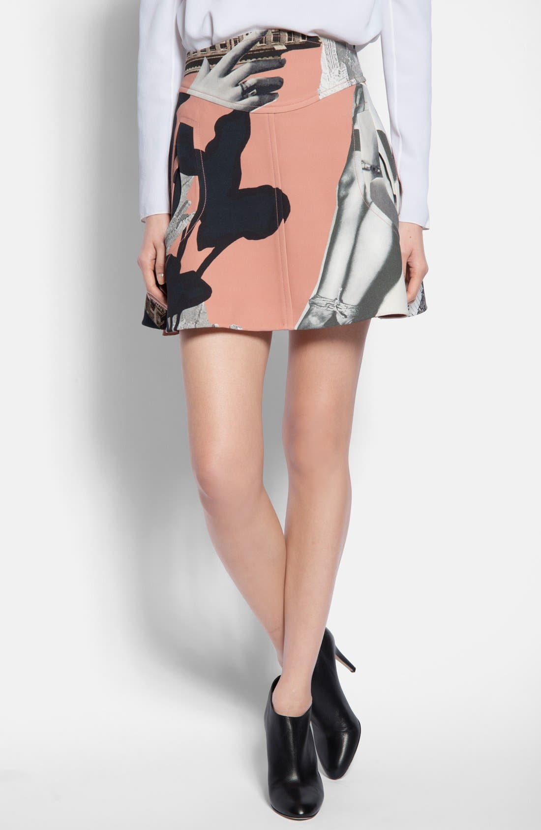 Main Image - Carven Print Flared Skirt