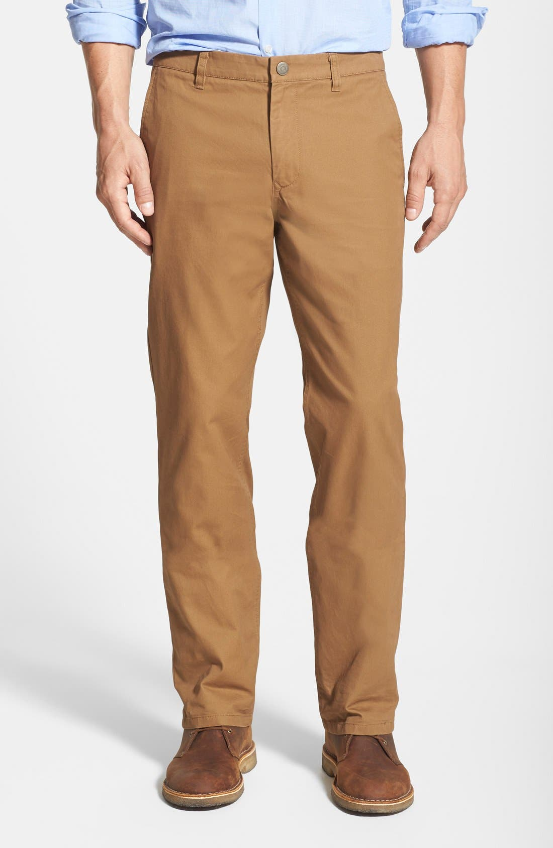 Straight Fit Washed Chinos,                         Main,                         color, Coffee Liquer