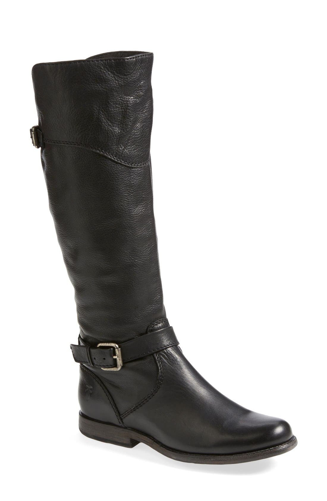 'Phillip' Riding Boot,                             Main thumbnail 1, color,                             Black