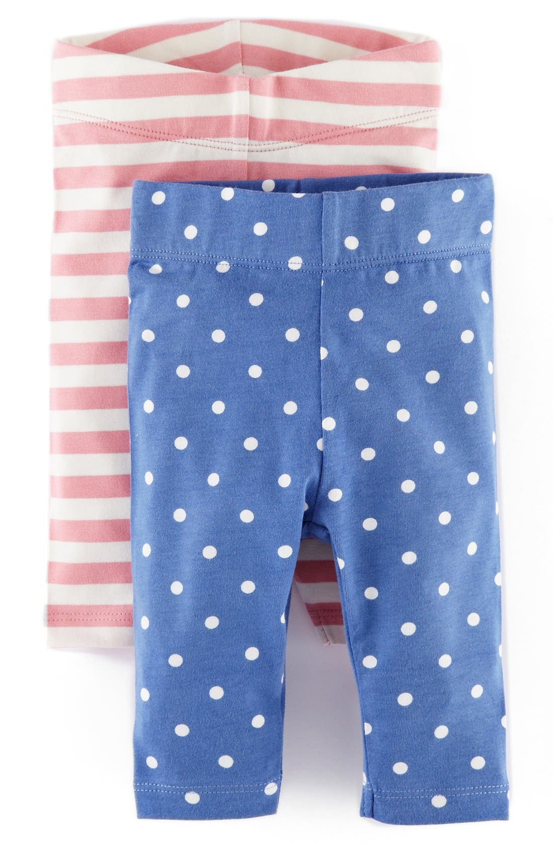 Main Image - Mini Boden Print Leggings (2-Pack) (Baby Girls)