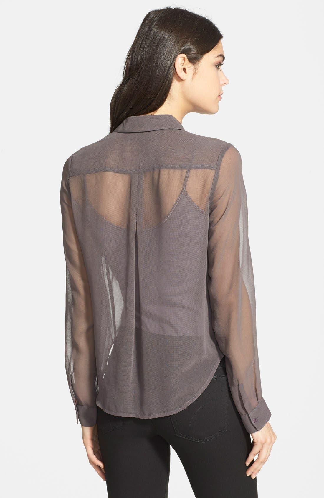 Alternate Image 2  - Chelsea28 Embellished Sheer Shirt