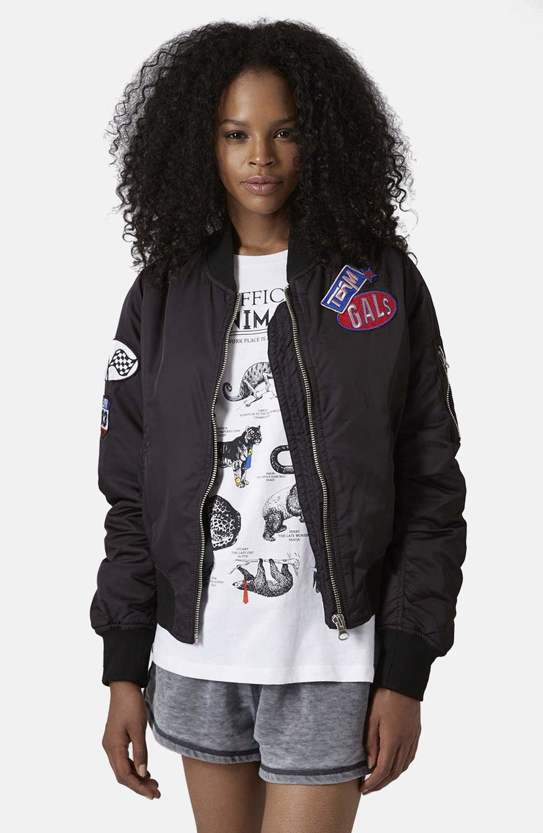Alternate Image 1 Selected - Topshop MA1 Bomber Jacket