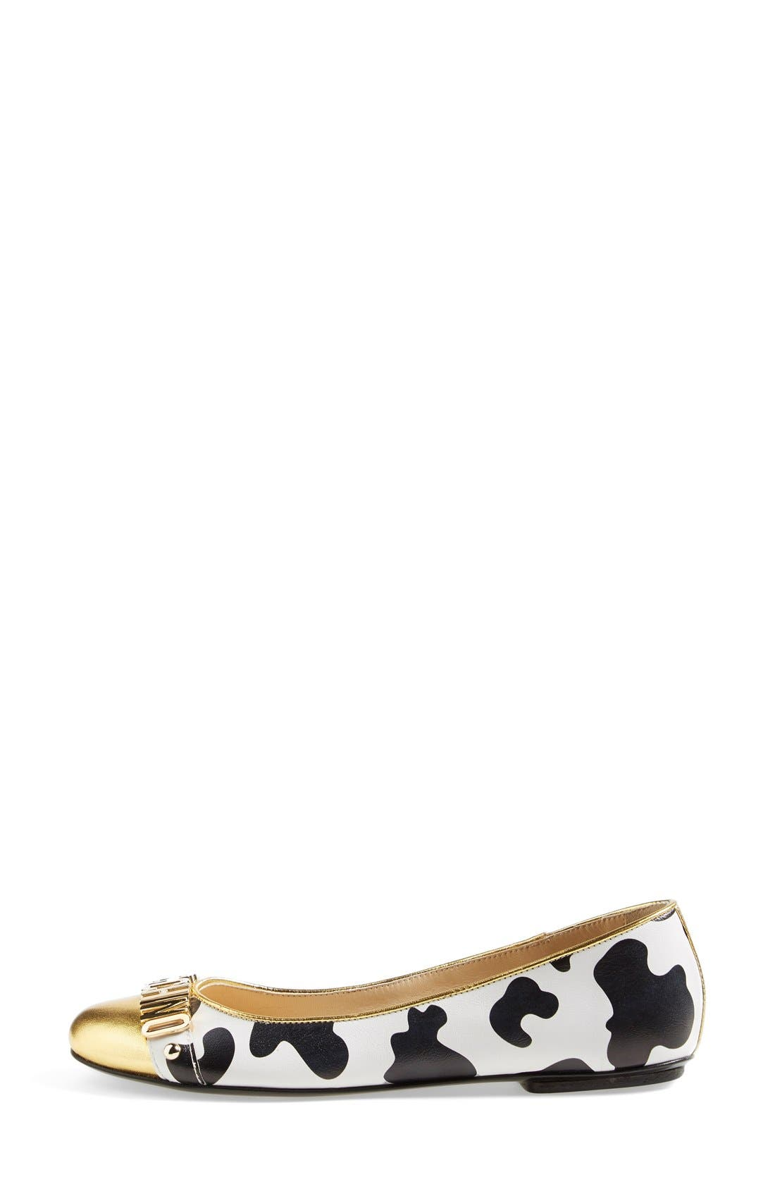 Alternate Image 4  - Moschino Logo Ballet Flat (Women)