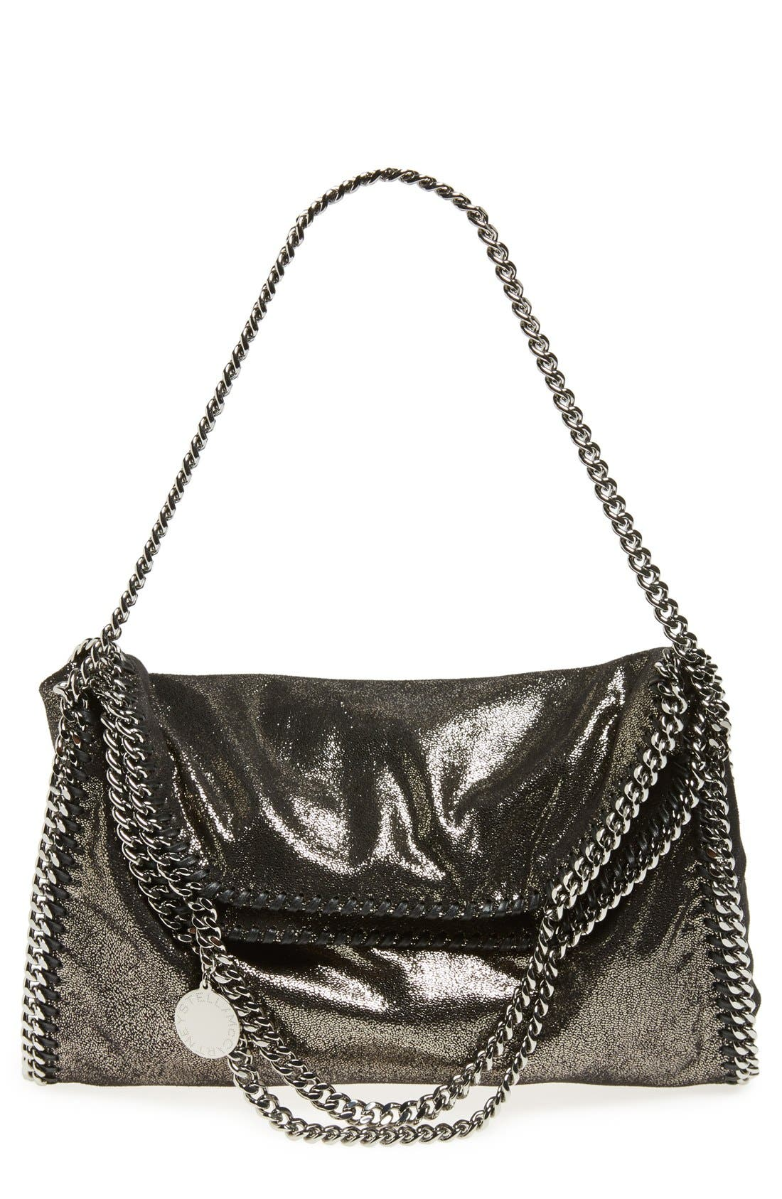 Alternate Image 1 Selected - Stella McCartney 'Falabella' Metallic Foldover Tote