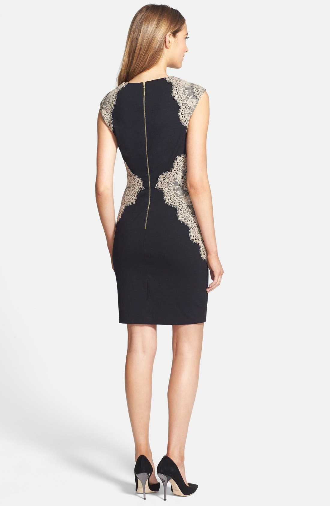 Alternate Image 2  - ERIN erin fetherston 'Shelby' Lace Panel Ponte Sheath Dress