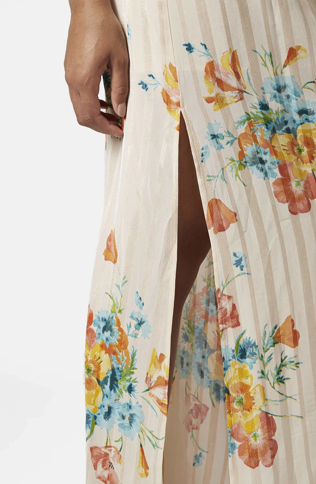 Alternate Image 4  - Topshop Floral Maxi Dress