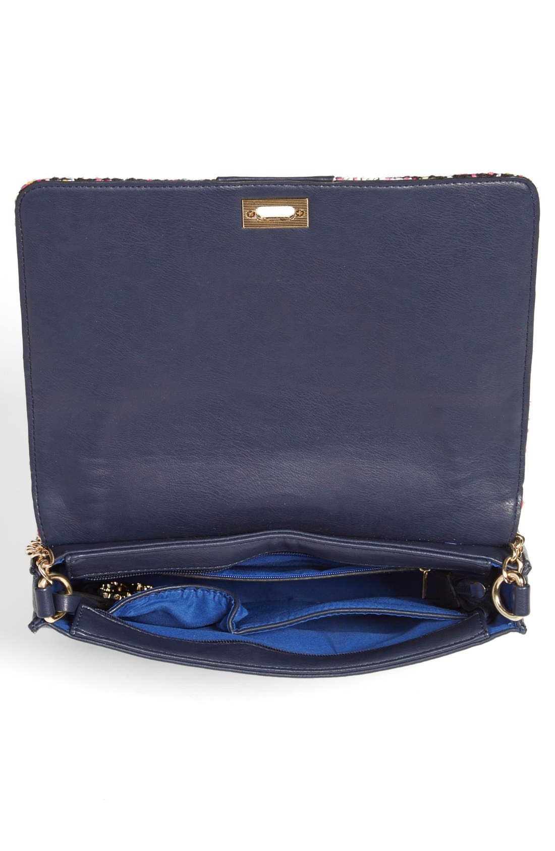 'Agnes' Clutch,                             Alternate thumbnail 3, color,                             Navy