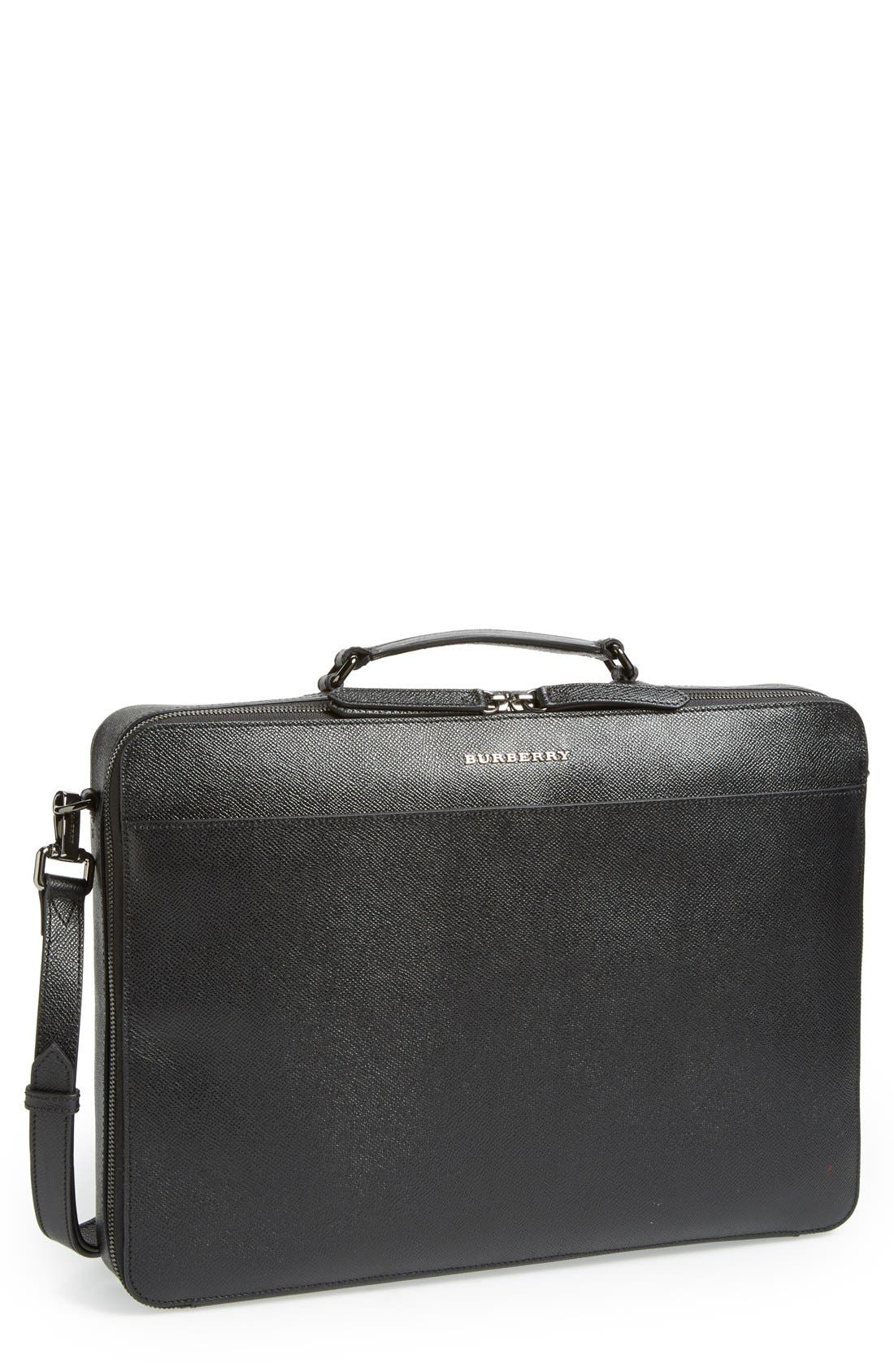 Main Image - Burberry 'Blackmore' Leather Computer Briefcase