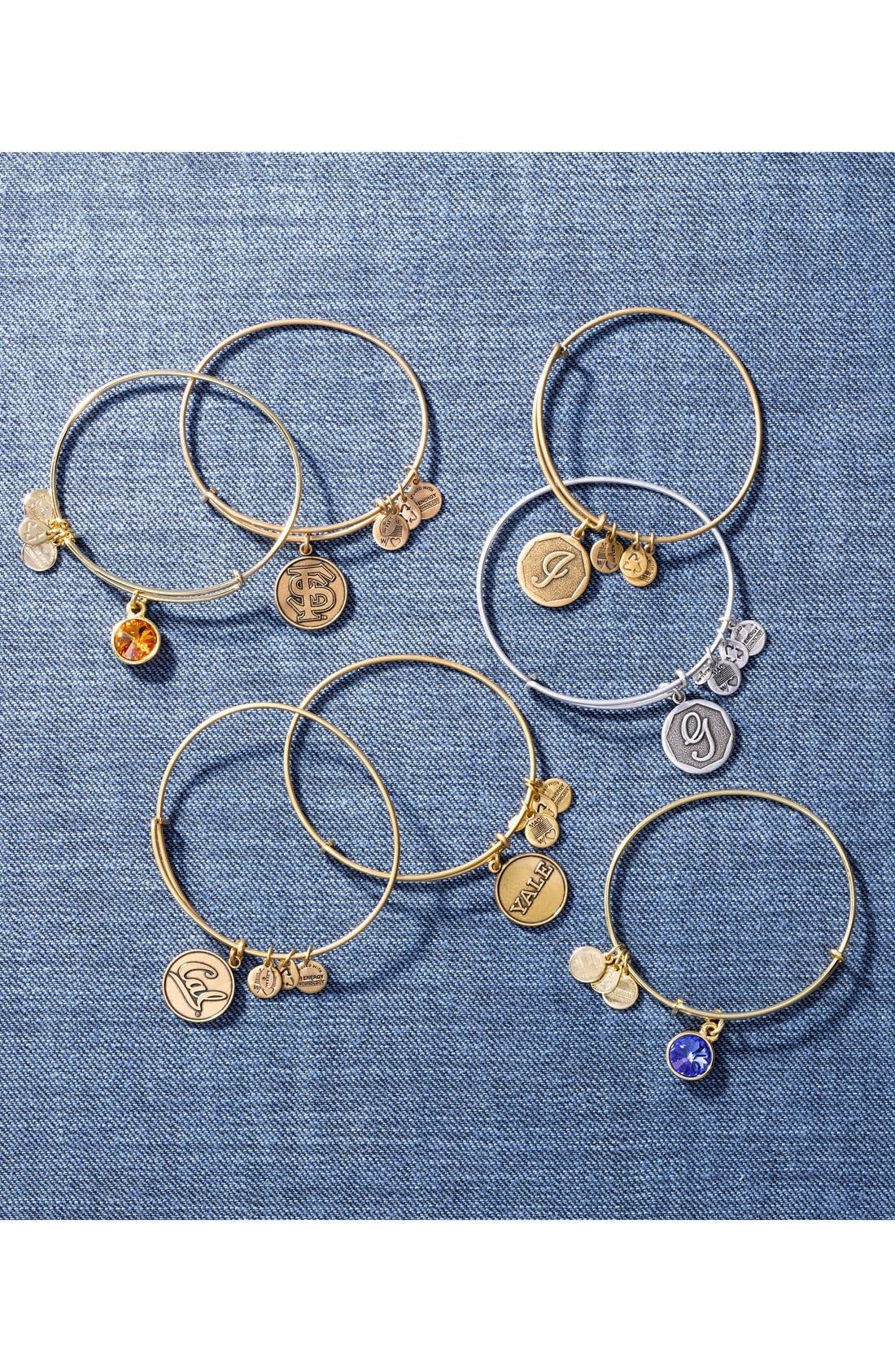 Alternate Image 2  - Alex and Ani 'Collegiate - Yale University' Expandable Charm Bangle