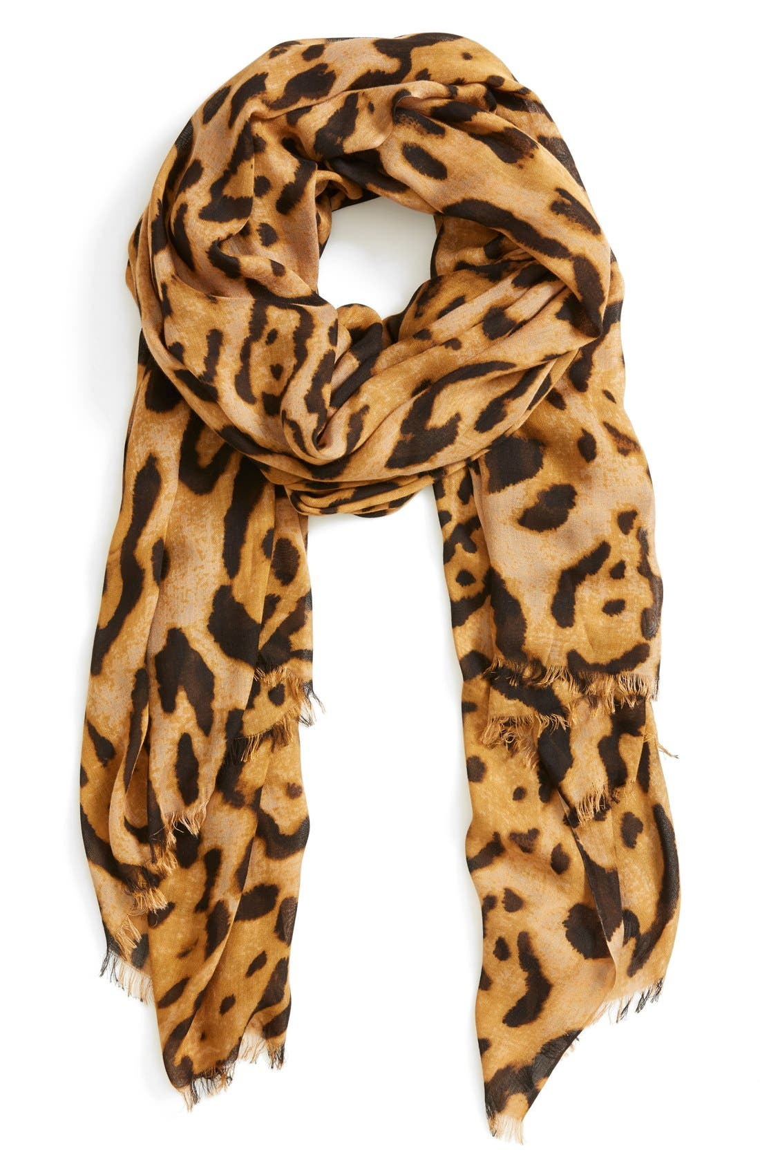 Alternate Image 1 Selected - Roffe Accessories Leopard Print Scarf