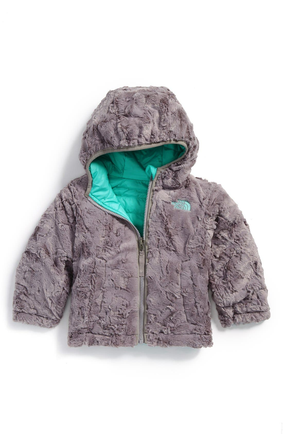 Alternate Image 2  - The North Face Mossbud Swirl Water Repellent Reversible Jacket (Toddler Girls)