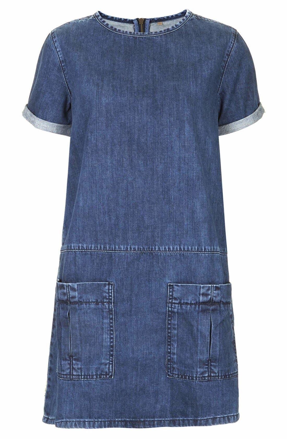 Alternate Image 3  - Topshop Moto Denim T-Shirt Dress