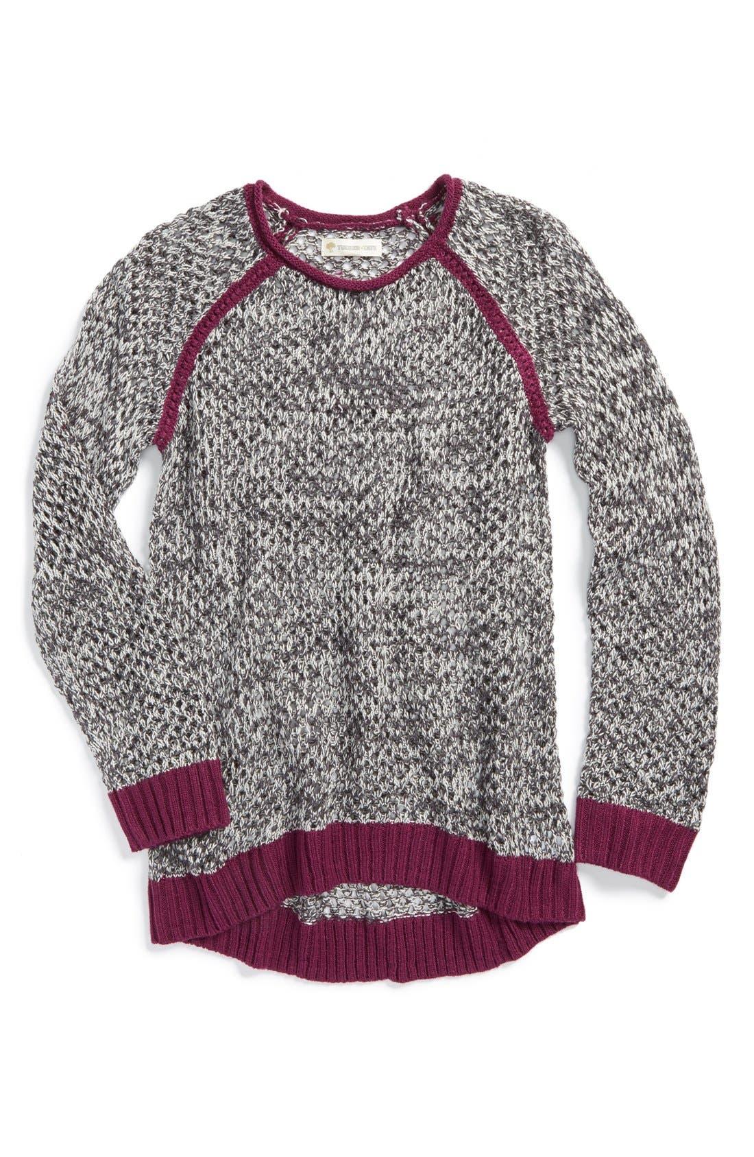Alternate Image 1 Selected - Tucker + Tate 'Lucia' Raglan Sleeve Sweater (Big Girls)