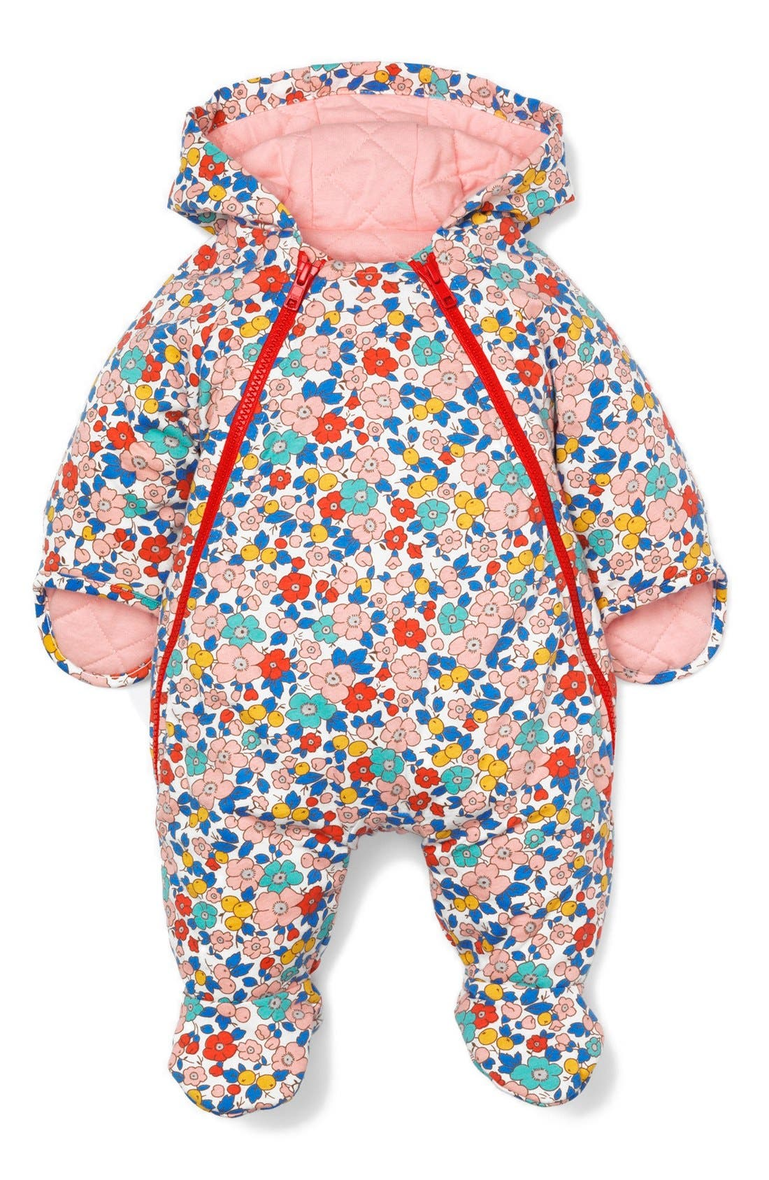 Alternate Image 1 Selected - Mini Boden 'Cosy' Quilted Bunting (Baby Girls)