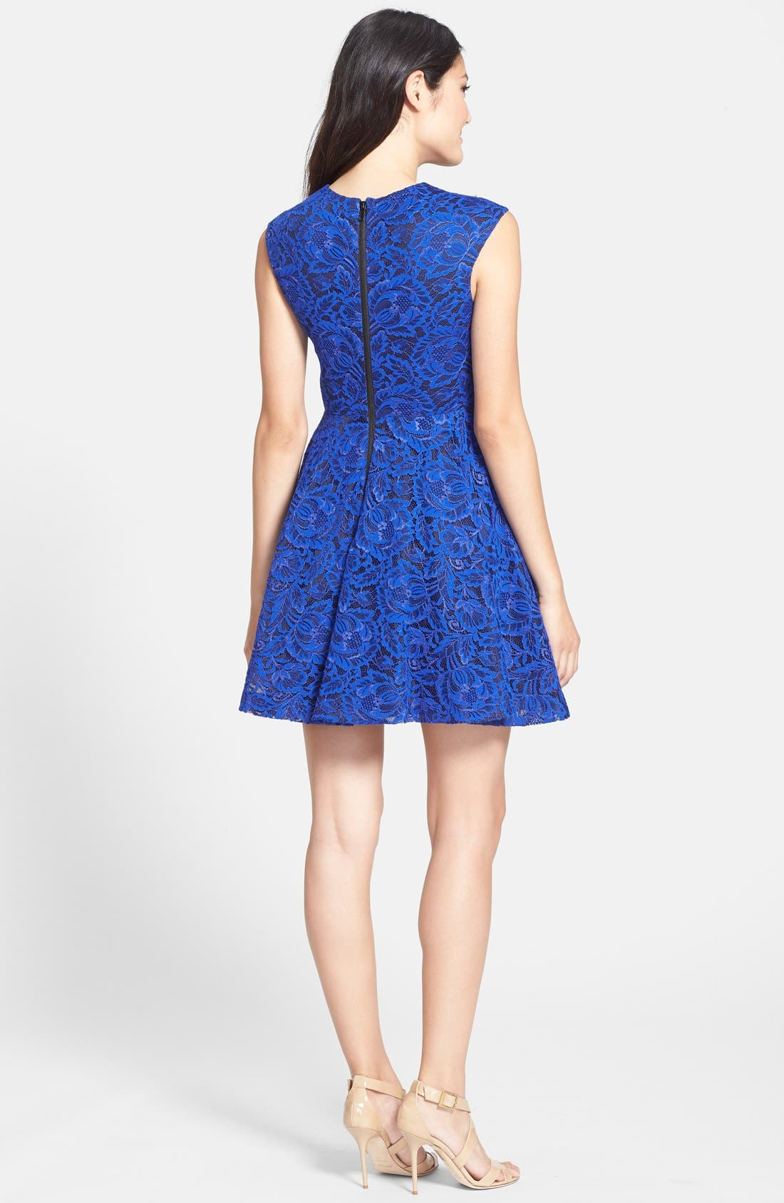 Alternate Image 2  - Cynthia Rowley Lace Fit & Flare Dress