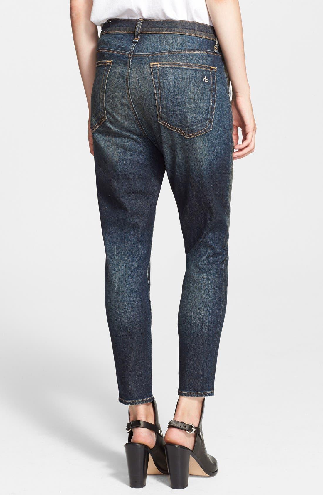 Alternate Image 2  - rag & bone/JEAN Boyfriend Jeans (Mateos)