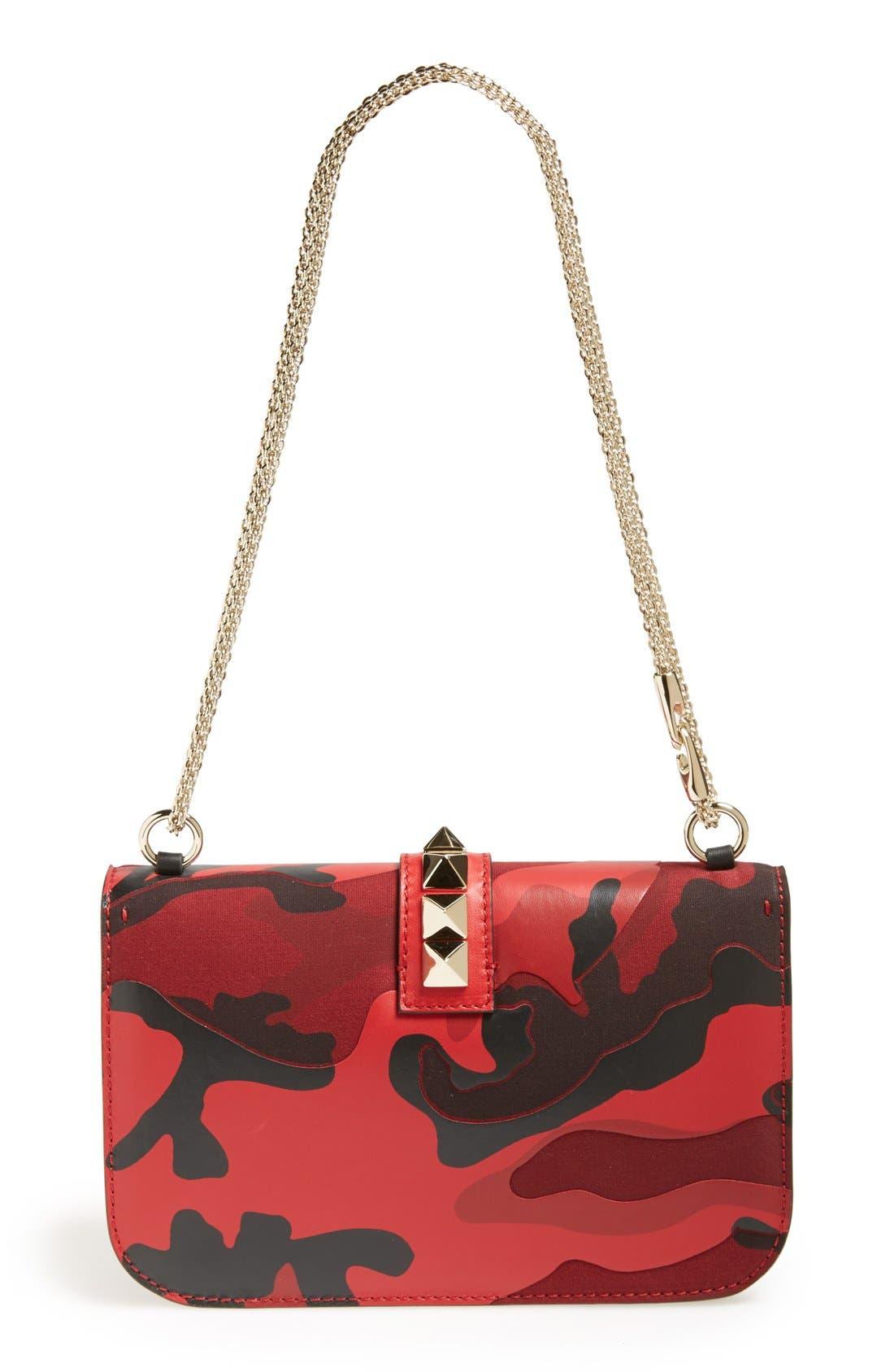 Alternate Image 4  - Valentino 'Rockstud Camo - Medium Lock' Canvas & Leather Shoulder Bag