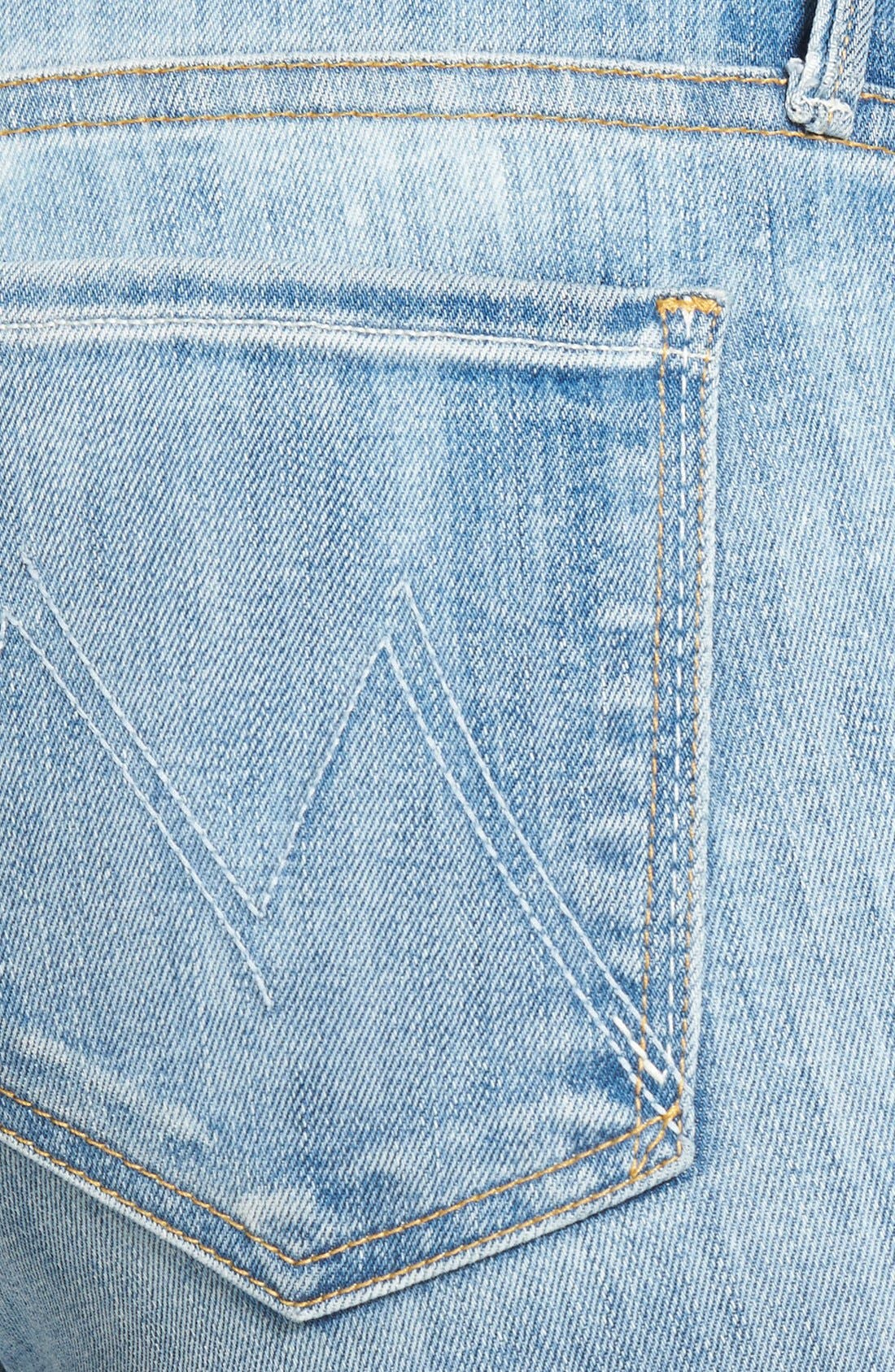Alternate Image 3  - MOTHER 'The Looker' Frayed Crop Skinny Jeans (Spreading Rumors)